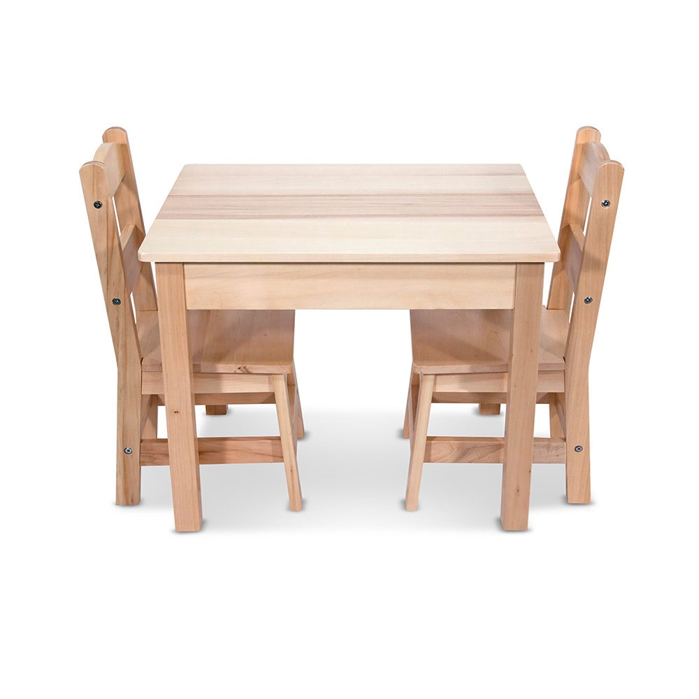 Melissa Doug Children S Natural Brown Wooden Table And Chairs Set On Free Shipping Today 9536119