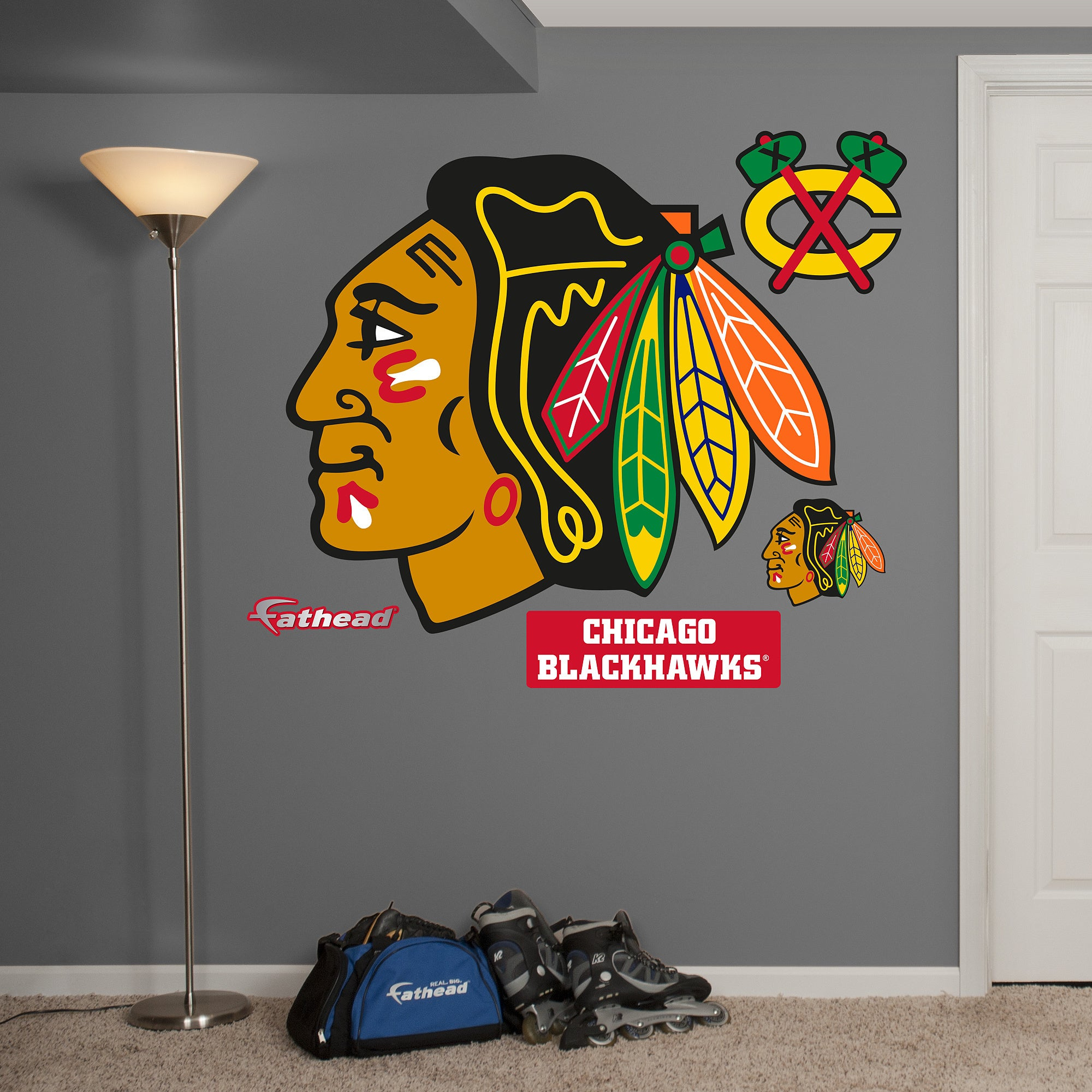 Fathead chicago blackhawks logo wall decals