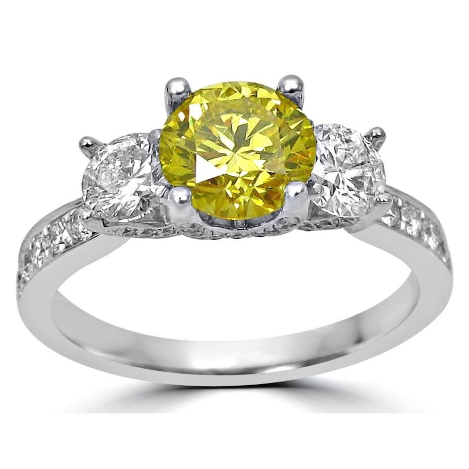 canary yellow engagement rings diamond