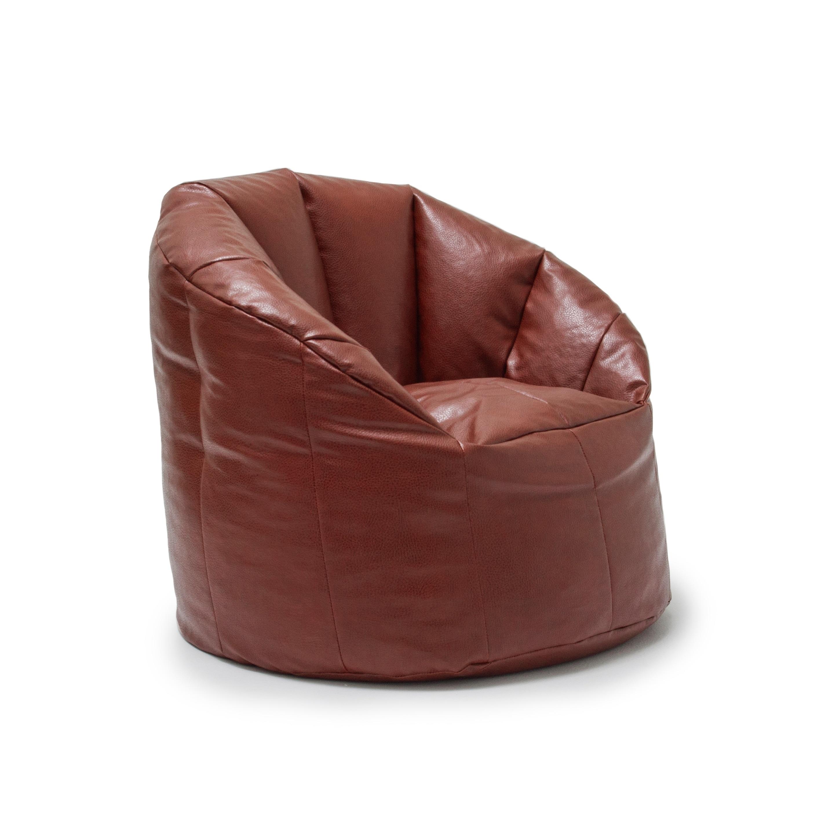 Shop Big Joe Lux Milano Vegan Leather Bean Bag Chair Multiple
