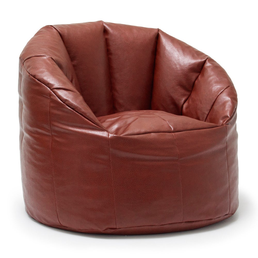 Joe Lux Milano Vegan Leather Bean Bag Chair Multiple Colors Free Shipping Today 16715607