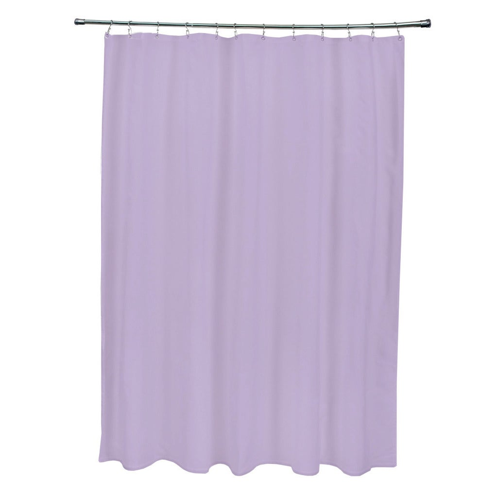 Lilac Purple Solid Shower Curtain - Free Shipping Today - Overstock ...