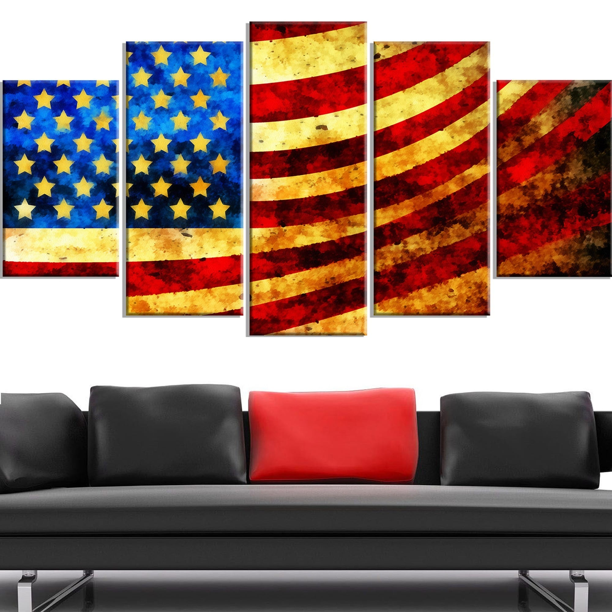Bless America Flag Canvas Art Set Free Shipping Today 16718440