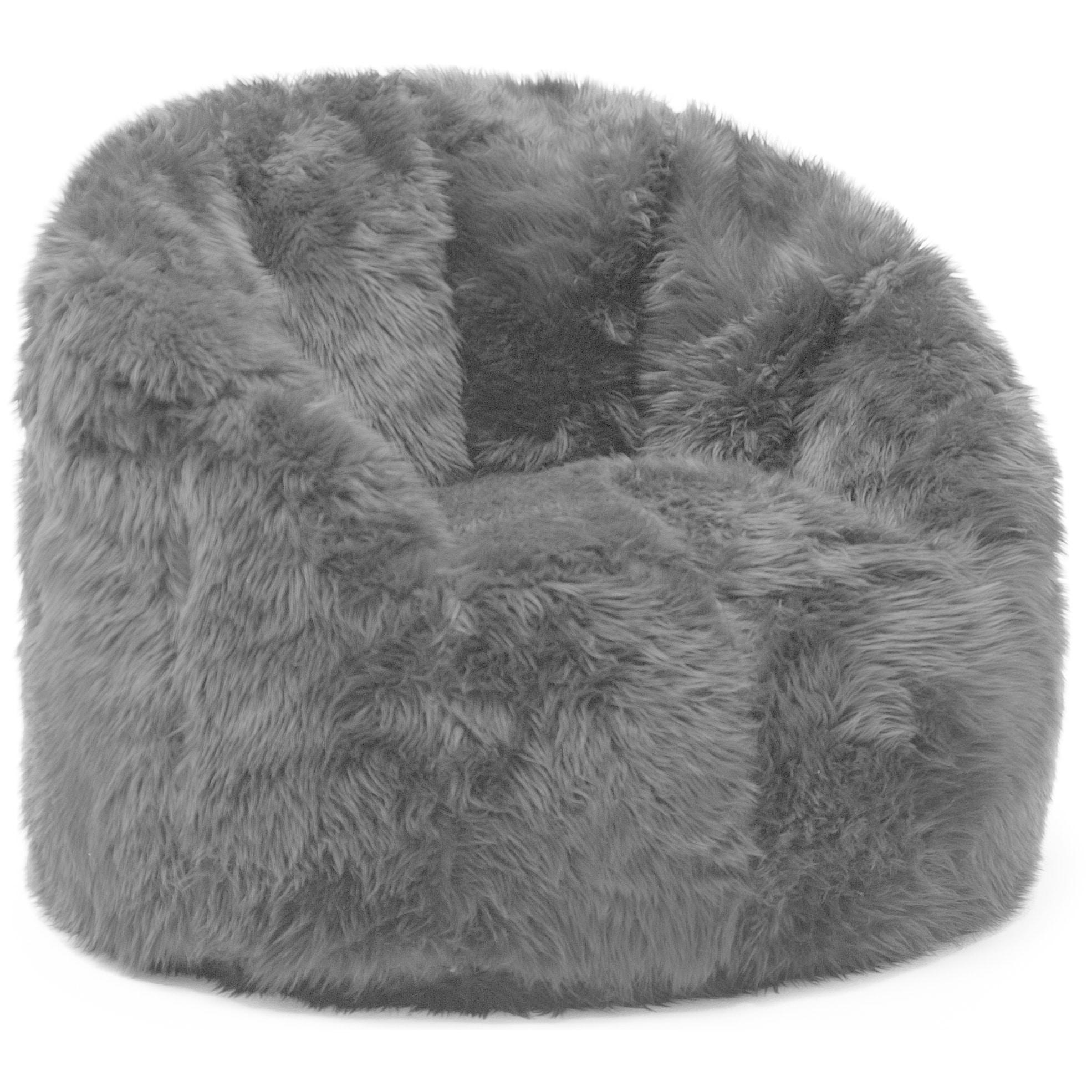 Shop Big Joe Lux Milano Shag Fur Chair - Free Shipping Today -  Overstock.com - 9539001 fc4e20ef77