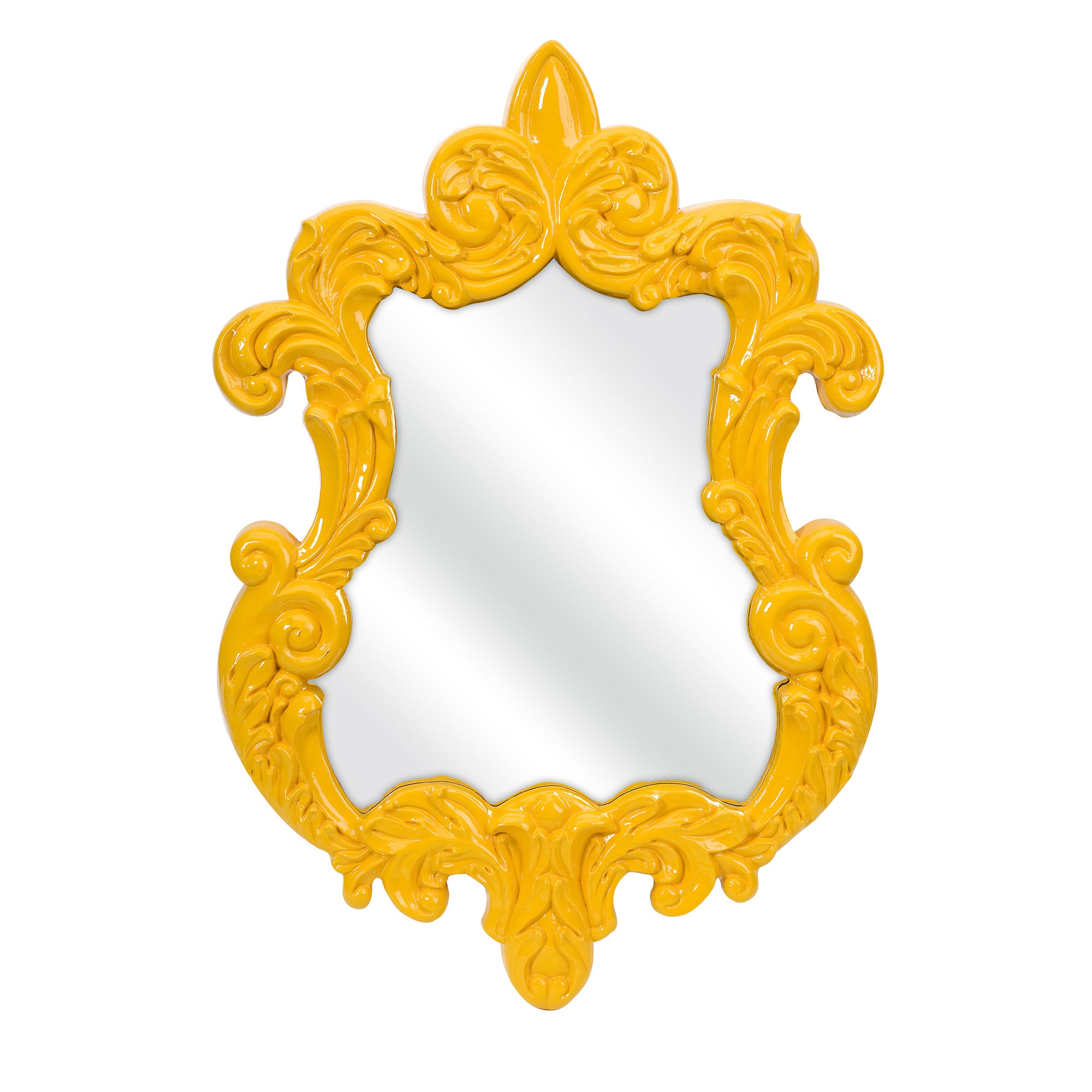 Finely Yellow Baroque Wall Mirror - Free Shipping Today ...