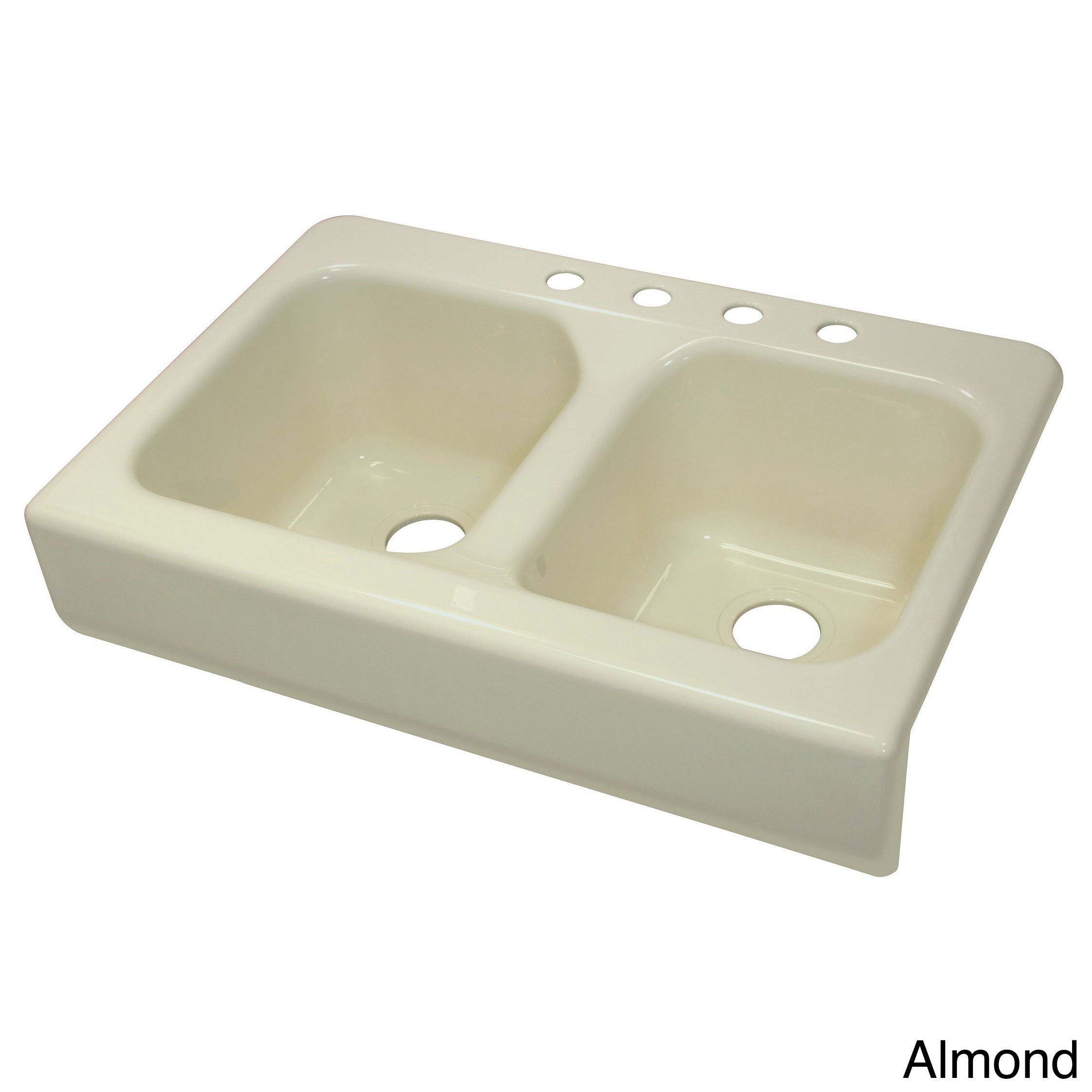 Shop Lyons Deluxe Designer White Apron Front Dual Bowl Acrylic 10 Inch Deep  Kitchen Sink   Free Shipping Today   Overstock.com   9539172