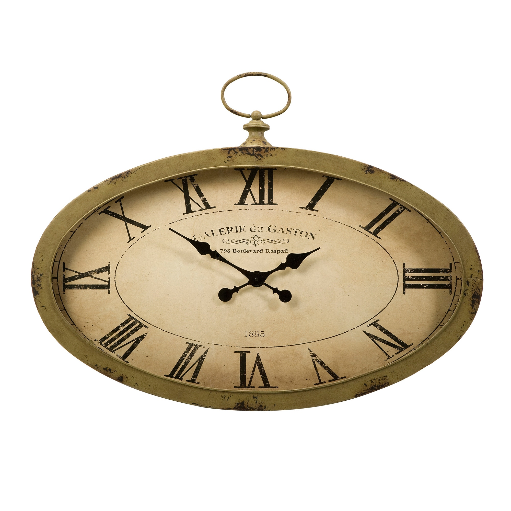 Shop sophie oval wall clock on sale free shipping today overstock com 9540158