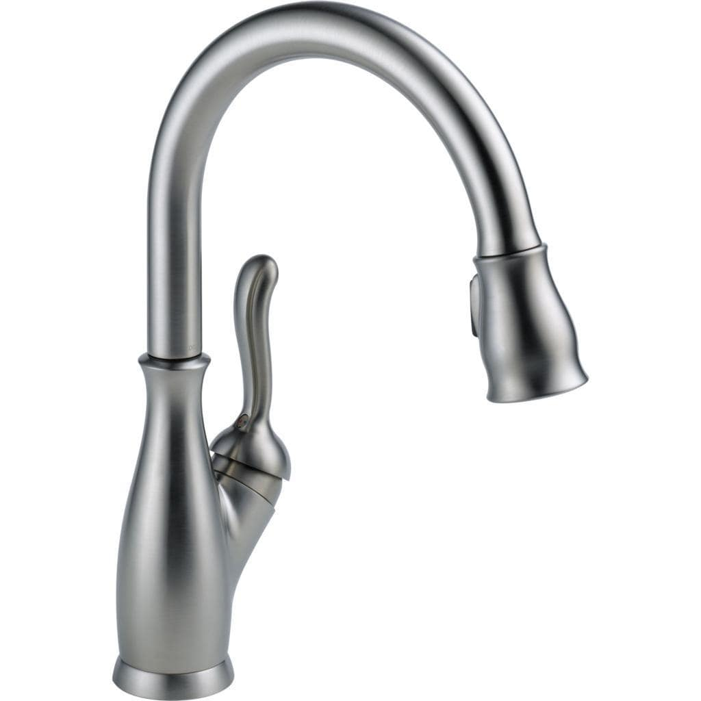 Delta Leland Single Handle Pull-Down Kitchen Faucet with ShieldSpray ...