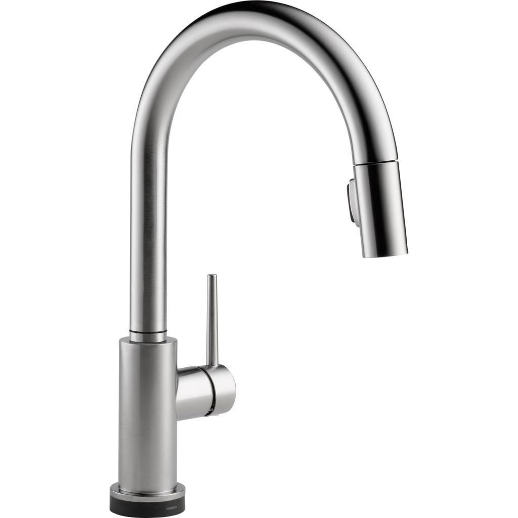 Delta Trinsic Single Handle Pull-Down Kitchen Faucet with Touch2O ...