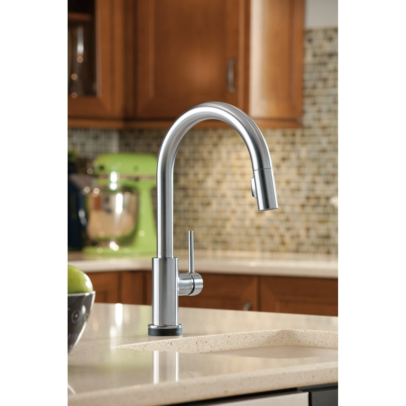Shop Delta Trinsic Single Handle Pull-Down Kitchen Faucet with ...
