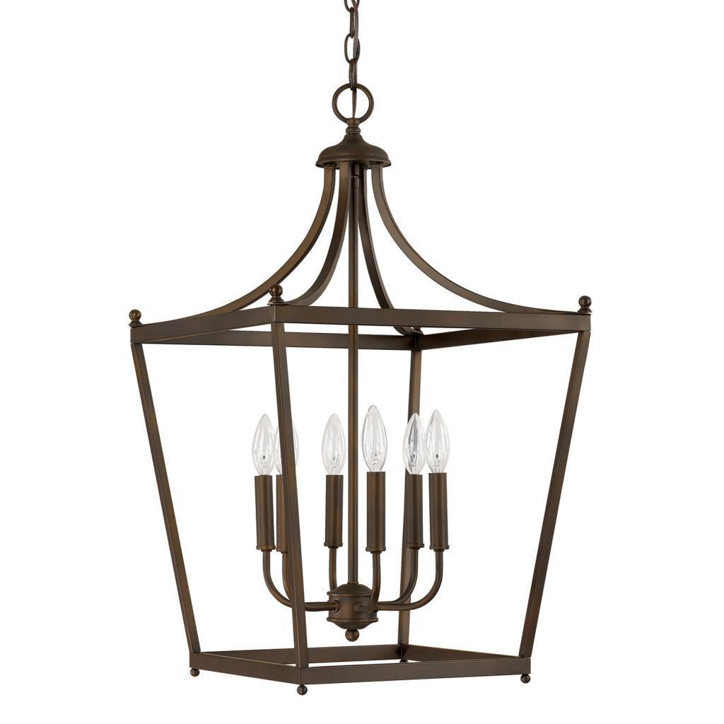 Capital lighting stanton collection 6 light burnished bronze foyer pendant