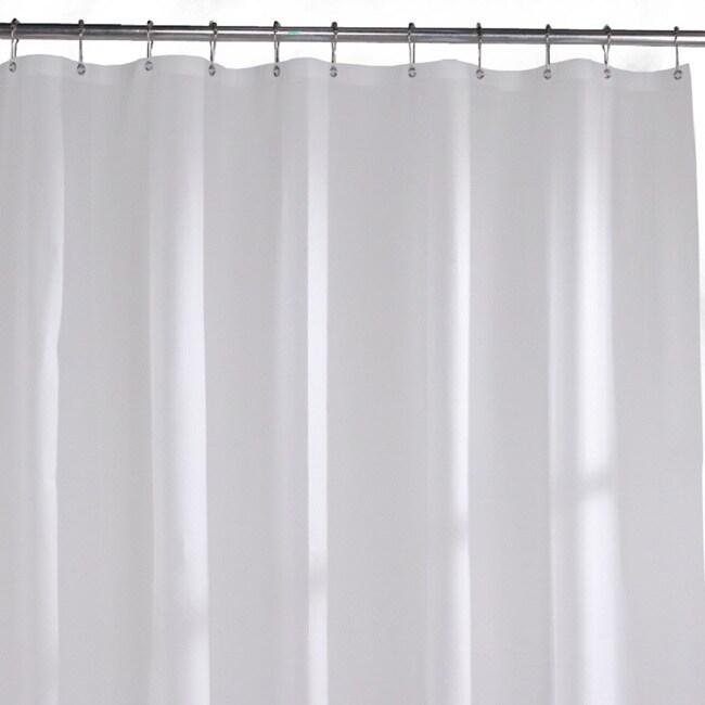 Shop Commercial Grade Solid White Vinyl Shower Curtain Liner