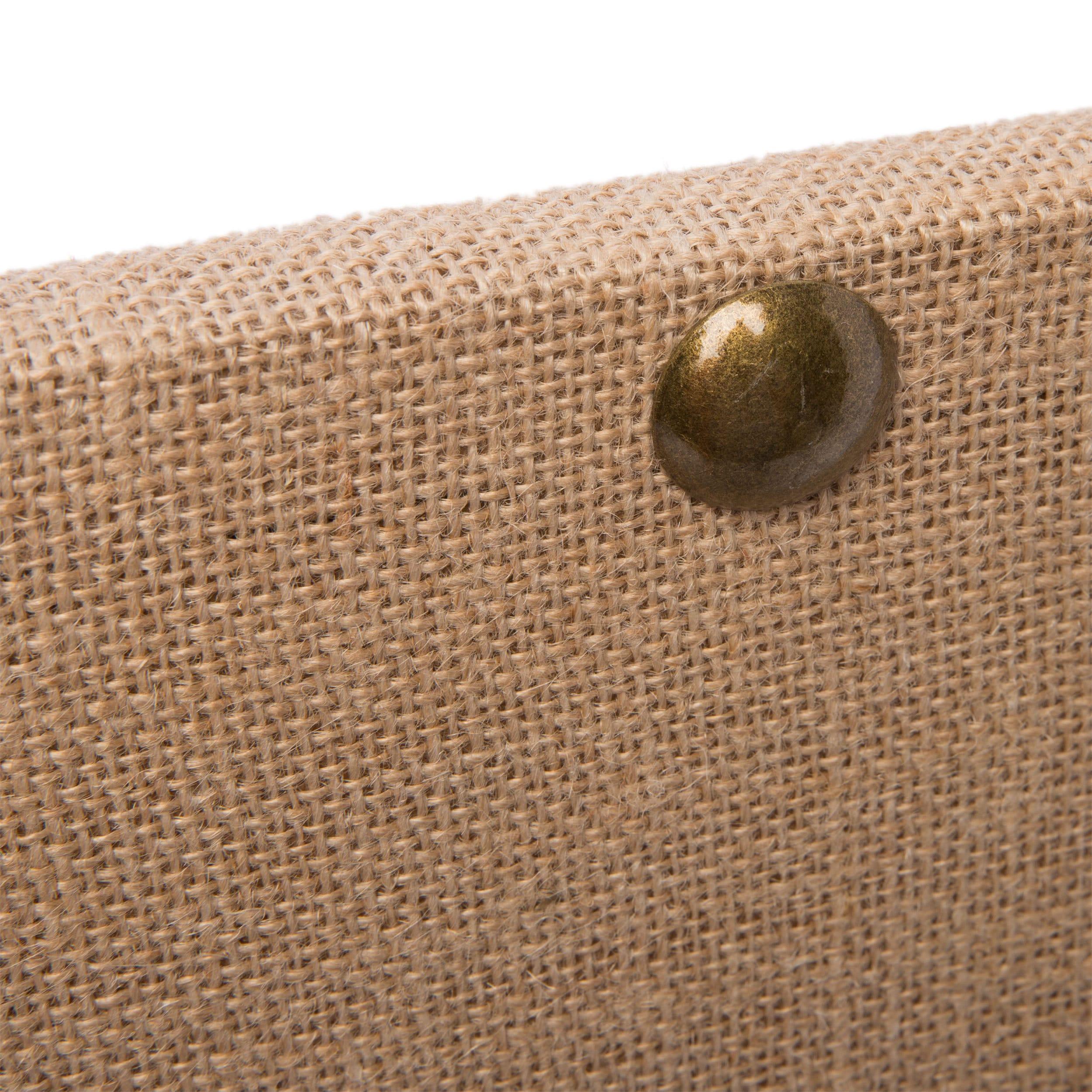 shop linon medium burlap nailhead corkboard on sale free