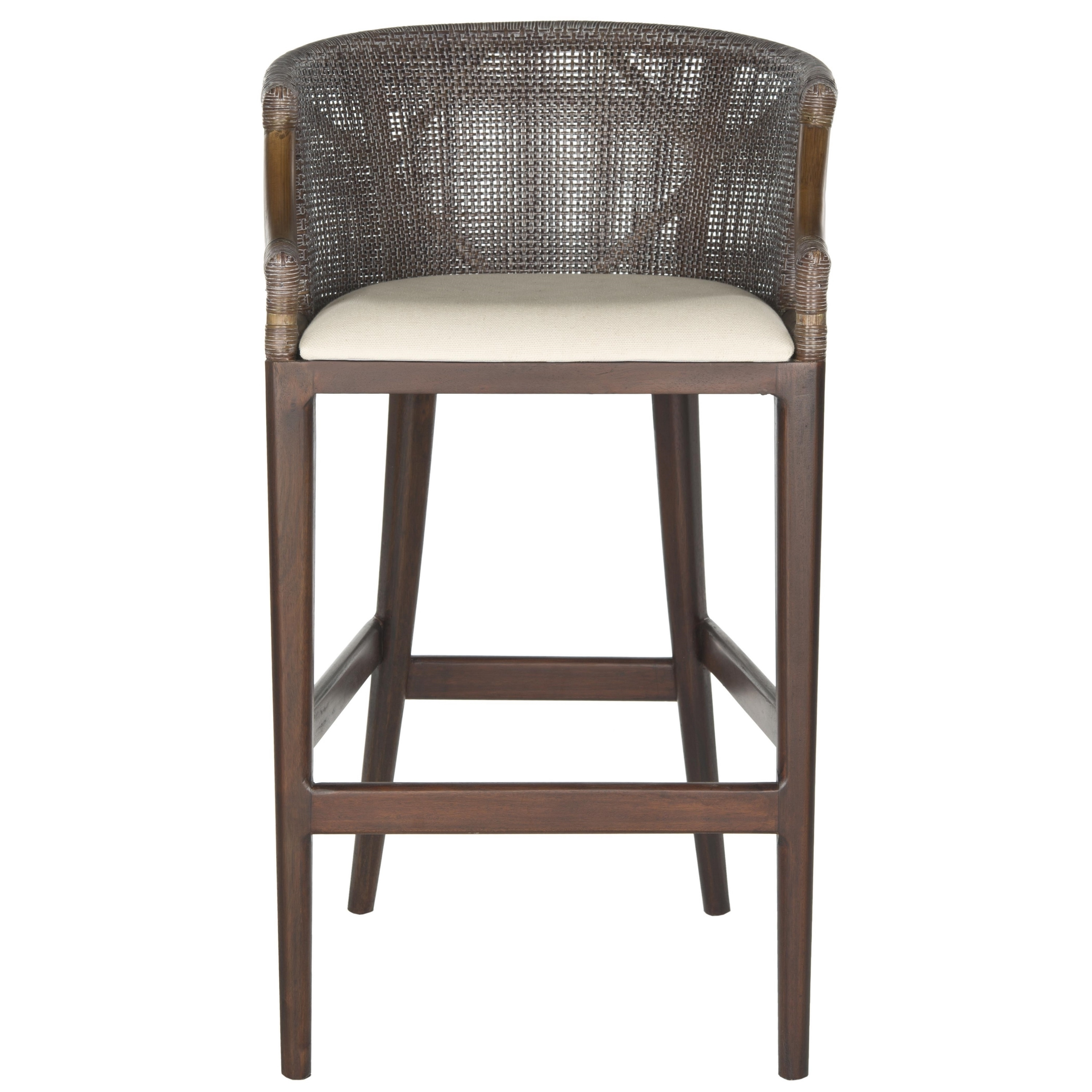 Safavieh Rural Woven Dining 28 Inch Brando Brown Bar Stool Free Shipping Today 9542164