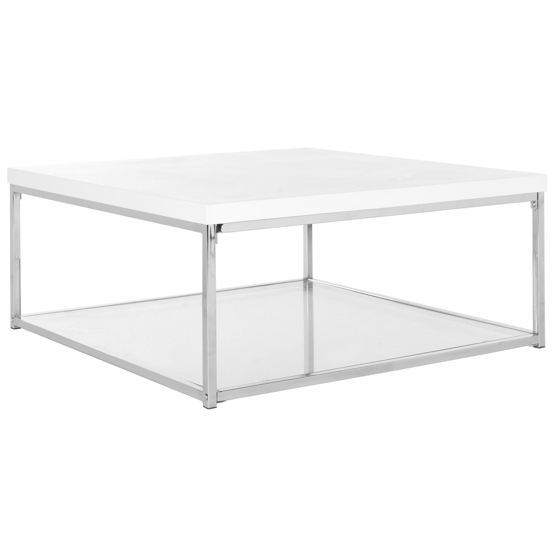 Safavieh Modern Glam Malone White Chrome Coffee Table Free
