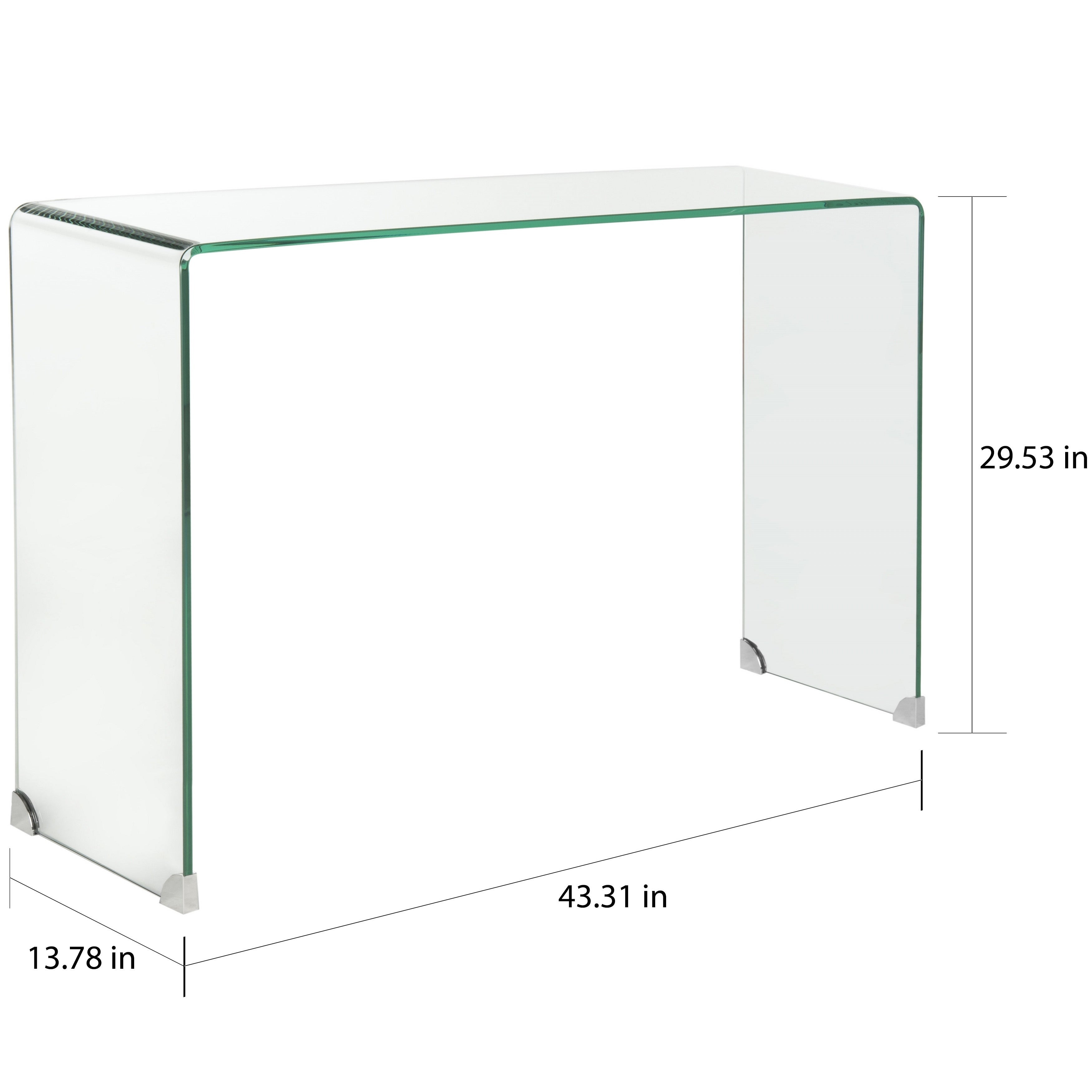 Safavieh Ambler Clear Console Table On Free Shipping Today 9542276