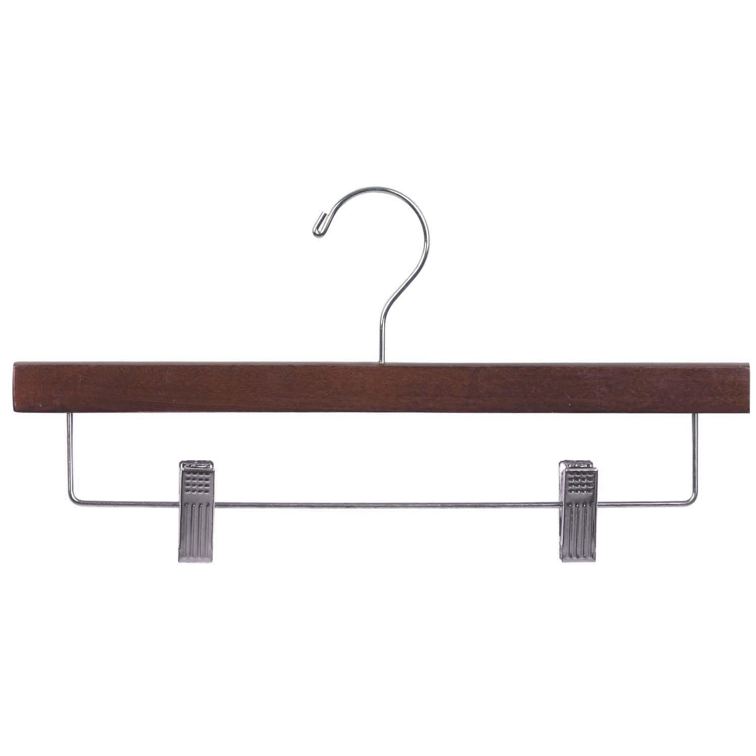Wooden Walnut Finish Bottom Hangers With Nickel Hook