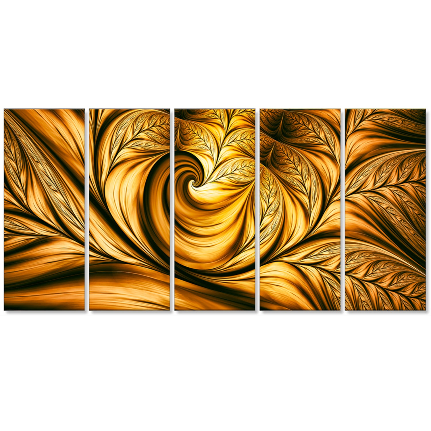 Abstract \'Golden Dream\' Gallery-wrapped Wall Print Art - Free ...