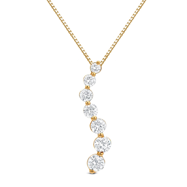 Auriya 14k gold seven diamond journey pendant necklace free auriya 14k gold seven diamond journey pendant necklace free shipping today overstock 16722967 aloadofball Images