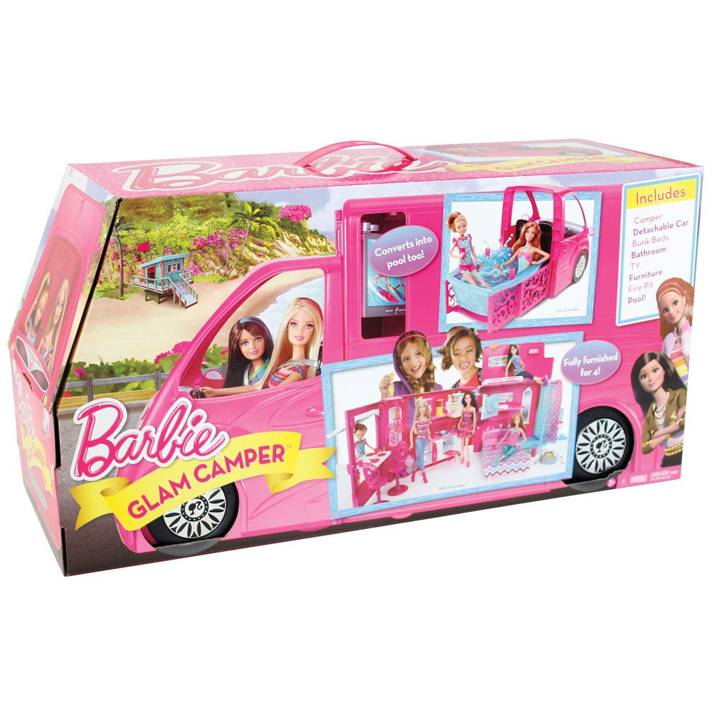 Shop Barbie Sisters Life In The Dreamhouse Camper Free Shipping
