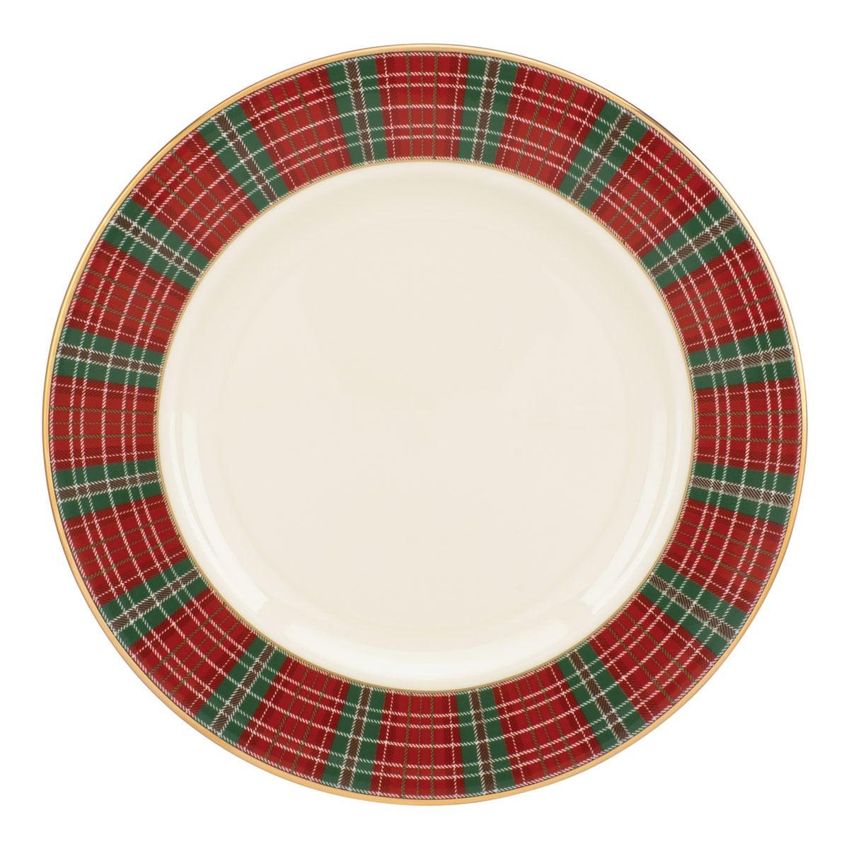 Shop Lenox Winter Greetings Plaid Salad Plate Free Shipping On
