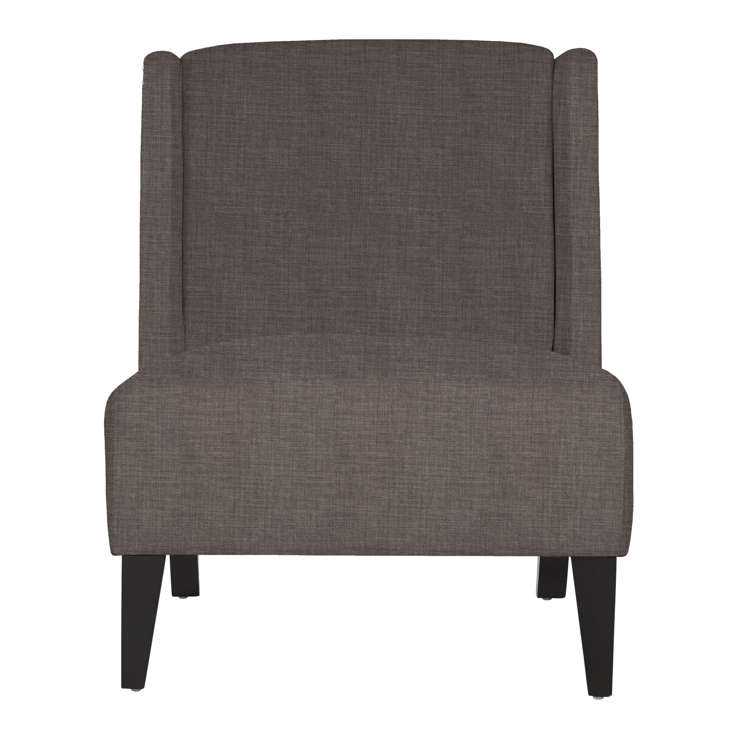 Shop Handy Living Barton Smoke Gray Sand Armless Wingback Chair   Free  Shipping Today   Overstock.com   9549716