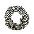 Le Nom Houndstooth Infinity Scarf