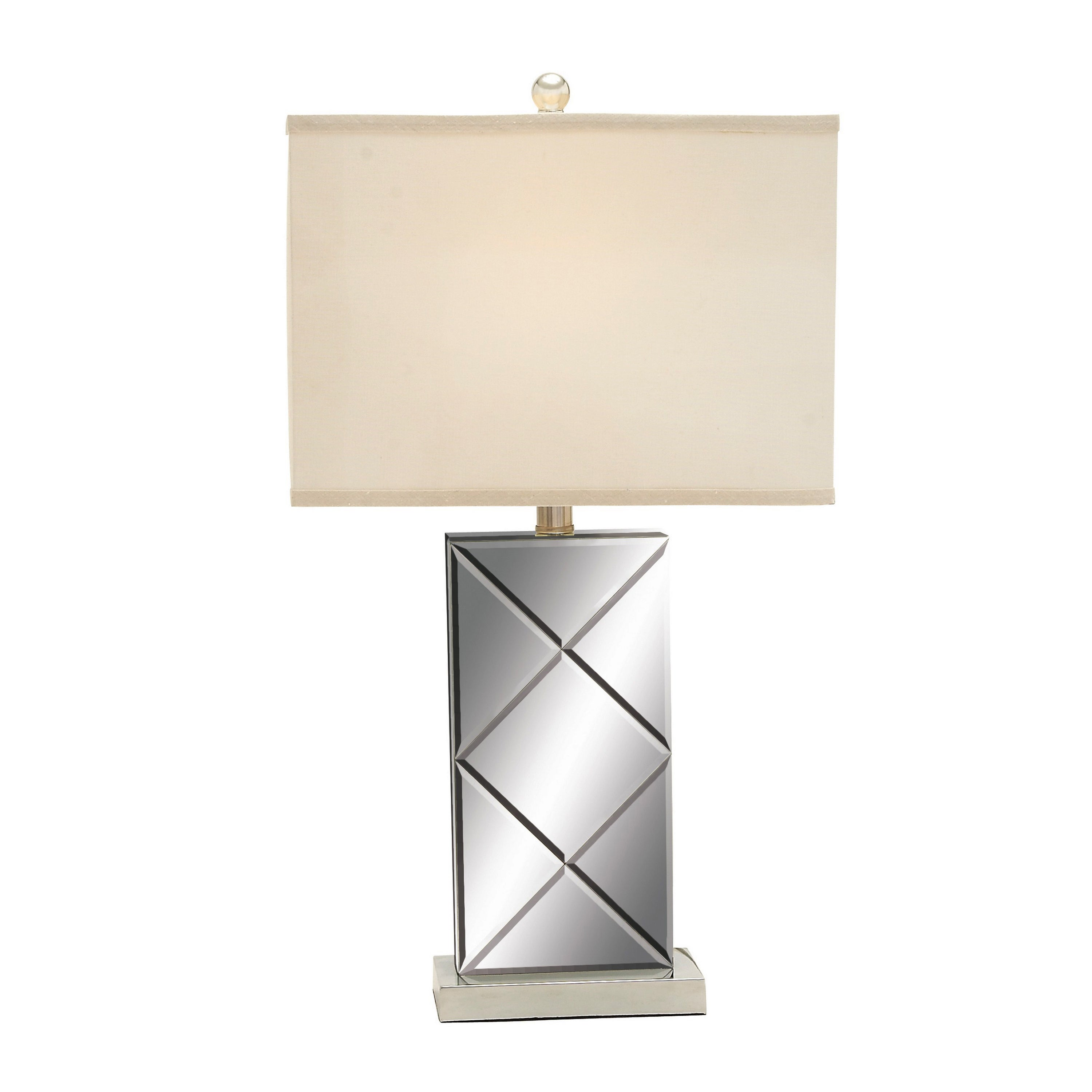 Illusion Contemporary Mirrored Table Lamp Set Of 2 Free Shipping Today 9551688