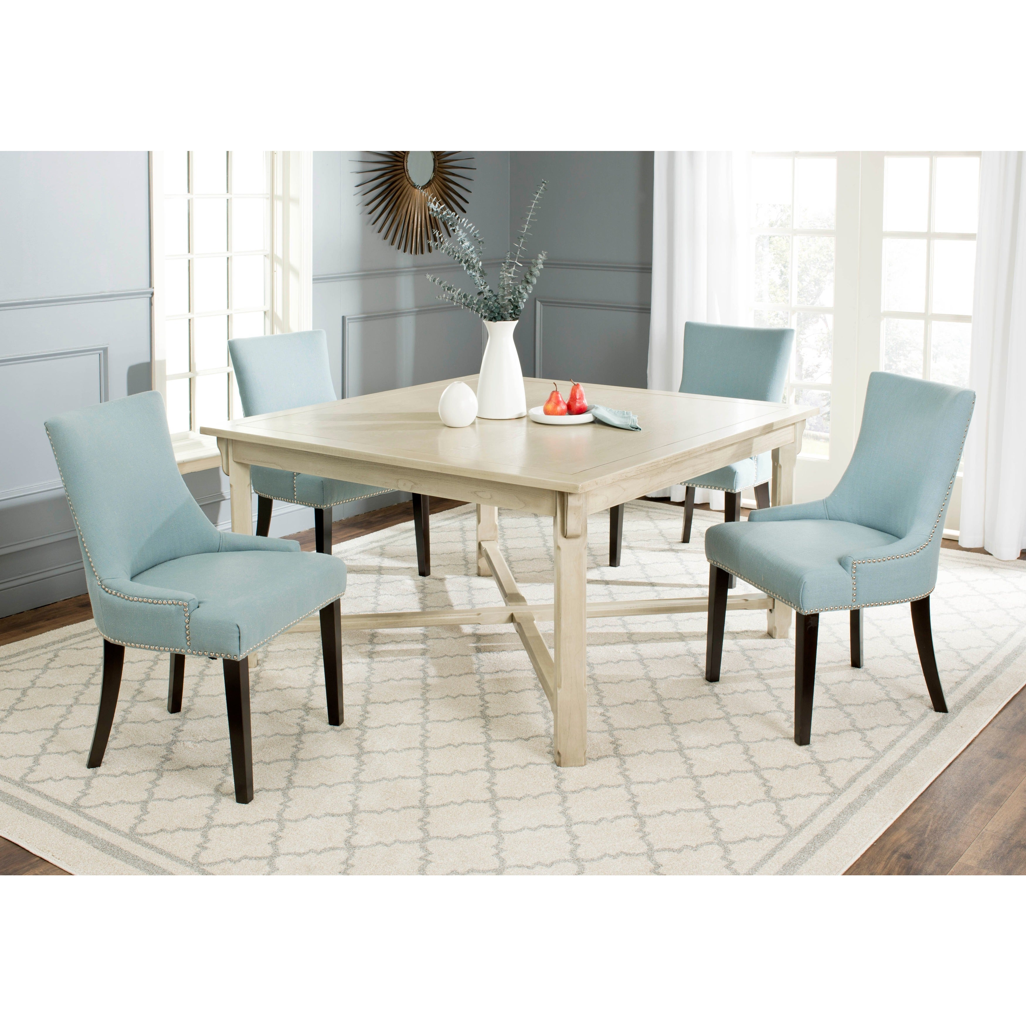 Safavieh Bleeker White Washed Dining Table On Free Shipping Today 9551972