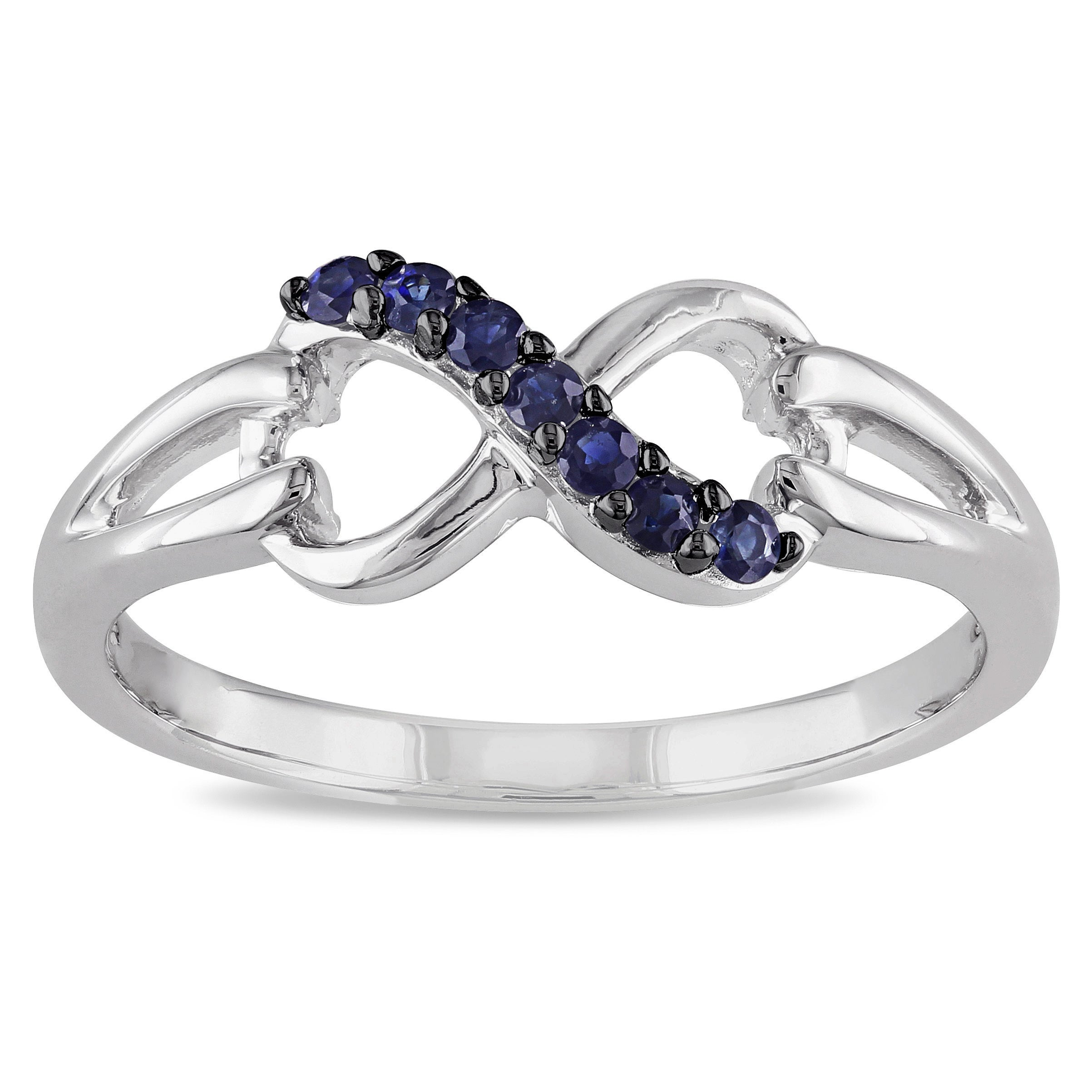 shop son jewelers white natural infinity iroff gemstones band sapphire diamond gold ring