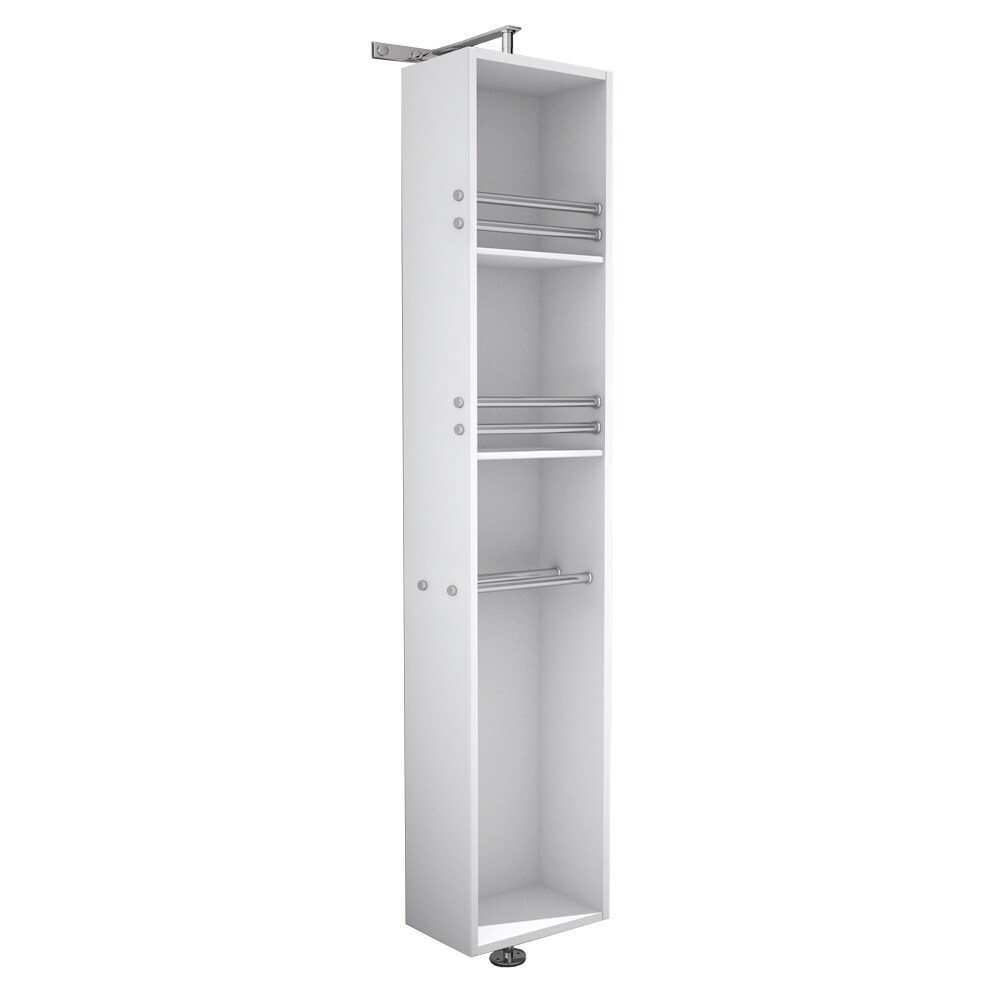 Awesome Wyndham Collection U0027Aprilu0027 Linen Tower/ Rotating Floor Cabinet With  Full Length Mirror   Free Shipping Today   Overstock.com   16732868