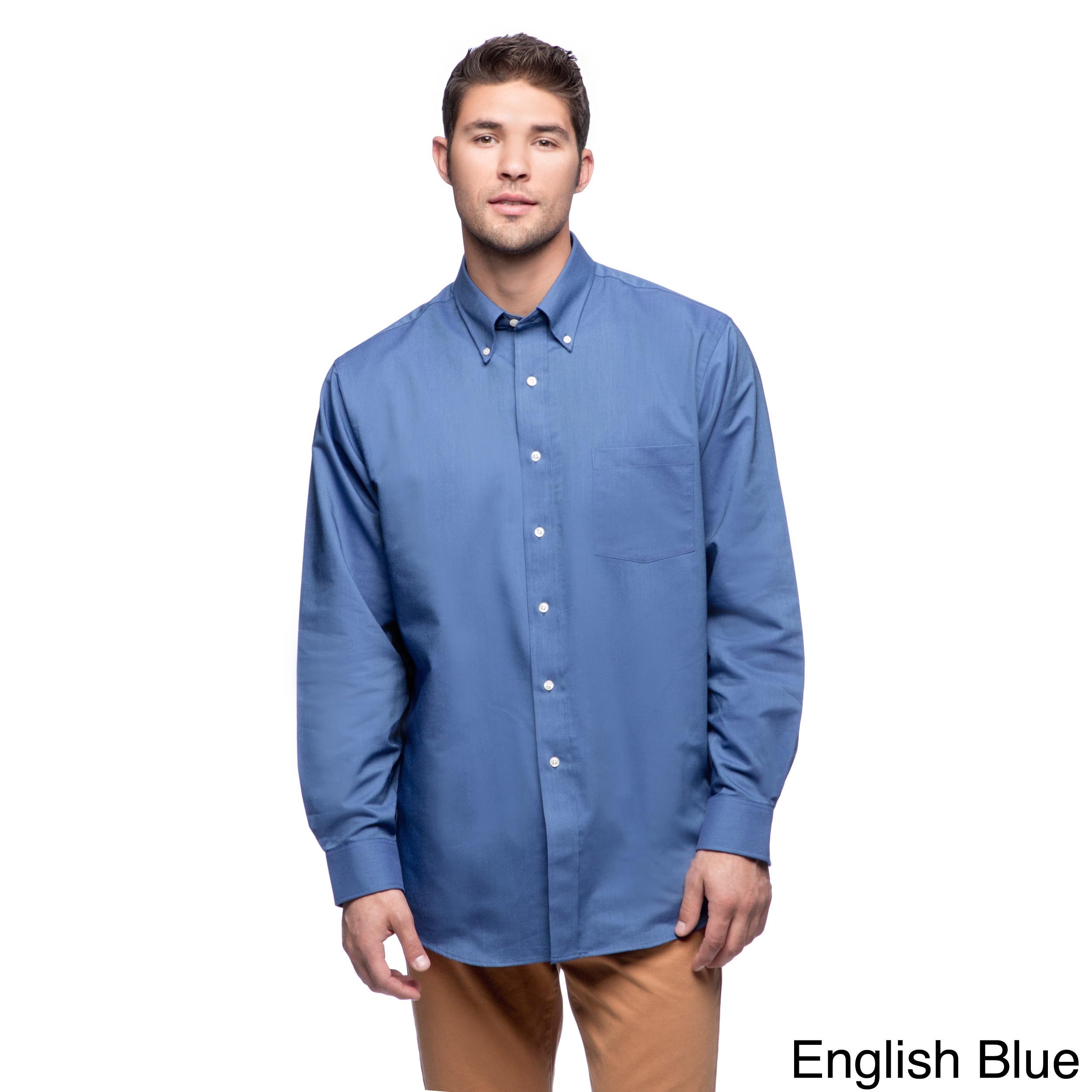 Shop Van Heusen Men\'s Long Sleeve Oxford Shirt - Free Shipping On ...