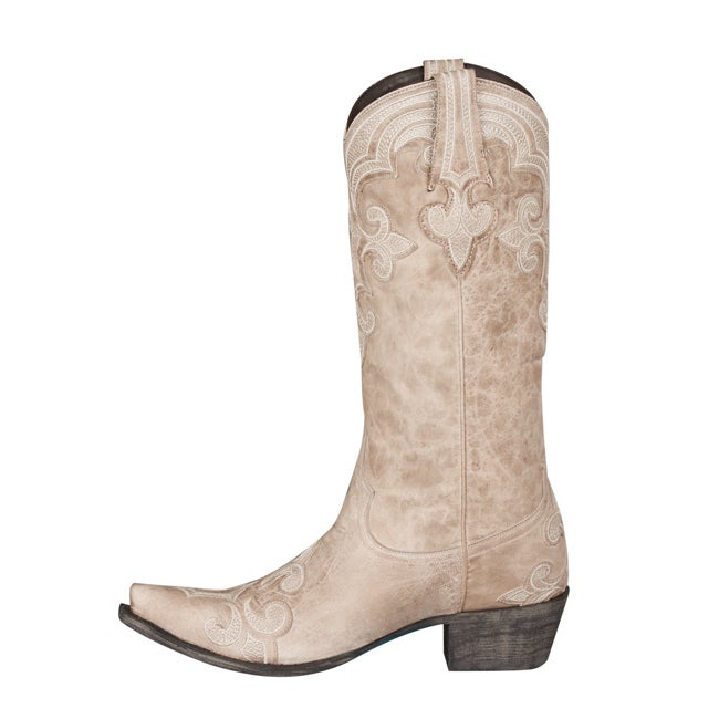 b6977d1fc2d Lane Boots Women's 'Dalton' Ivory Leather Cowboy Boots