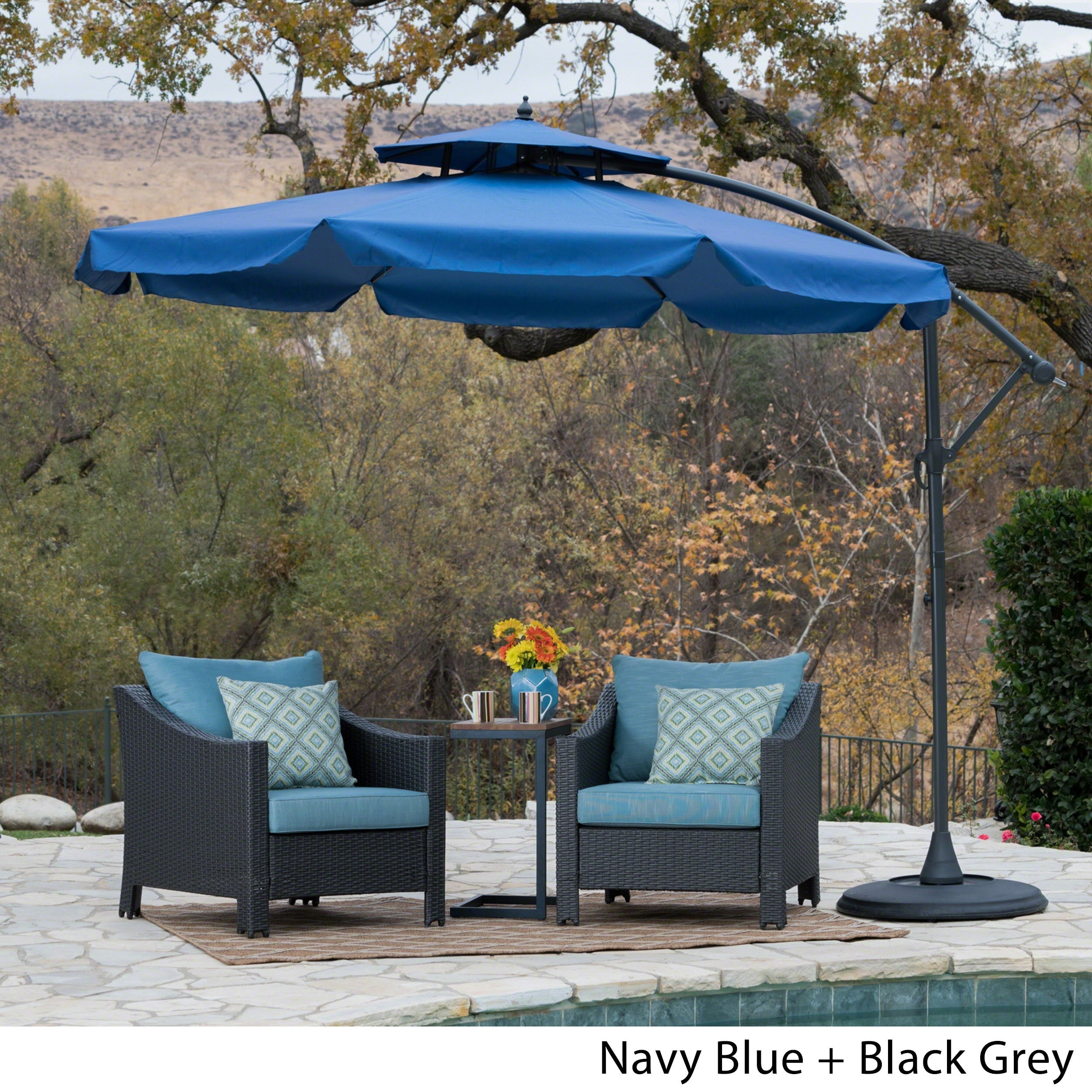 Outdoor Baja Banana Canopy Umbrella with Base by Christopher