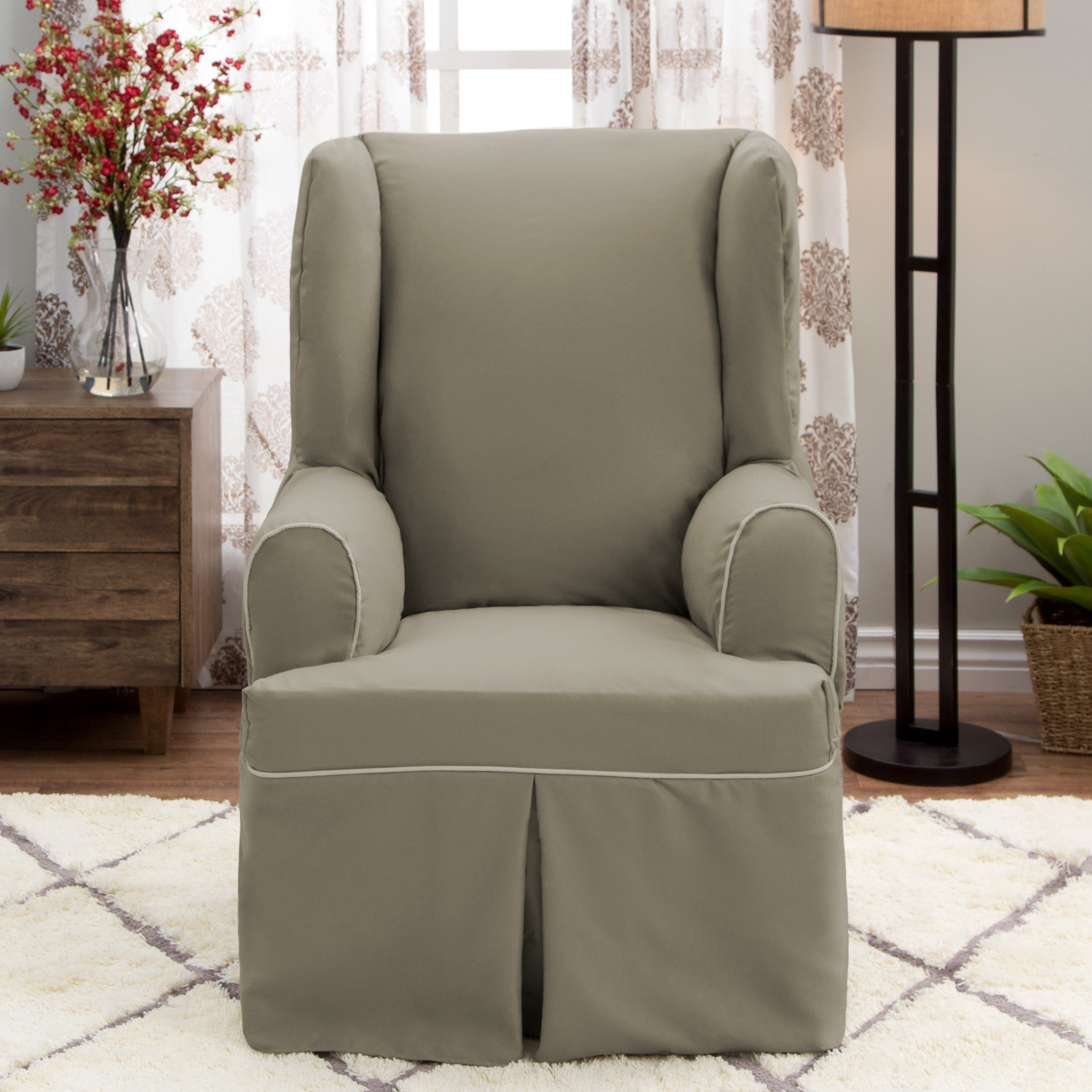 for decorate wingback slipcover soothing cover living to sure chair wing how with recliner furniture models room all slipcovered images fit your