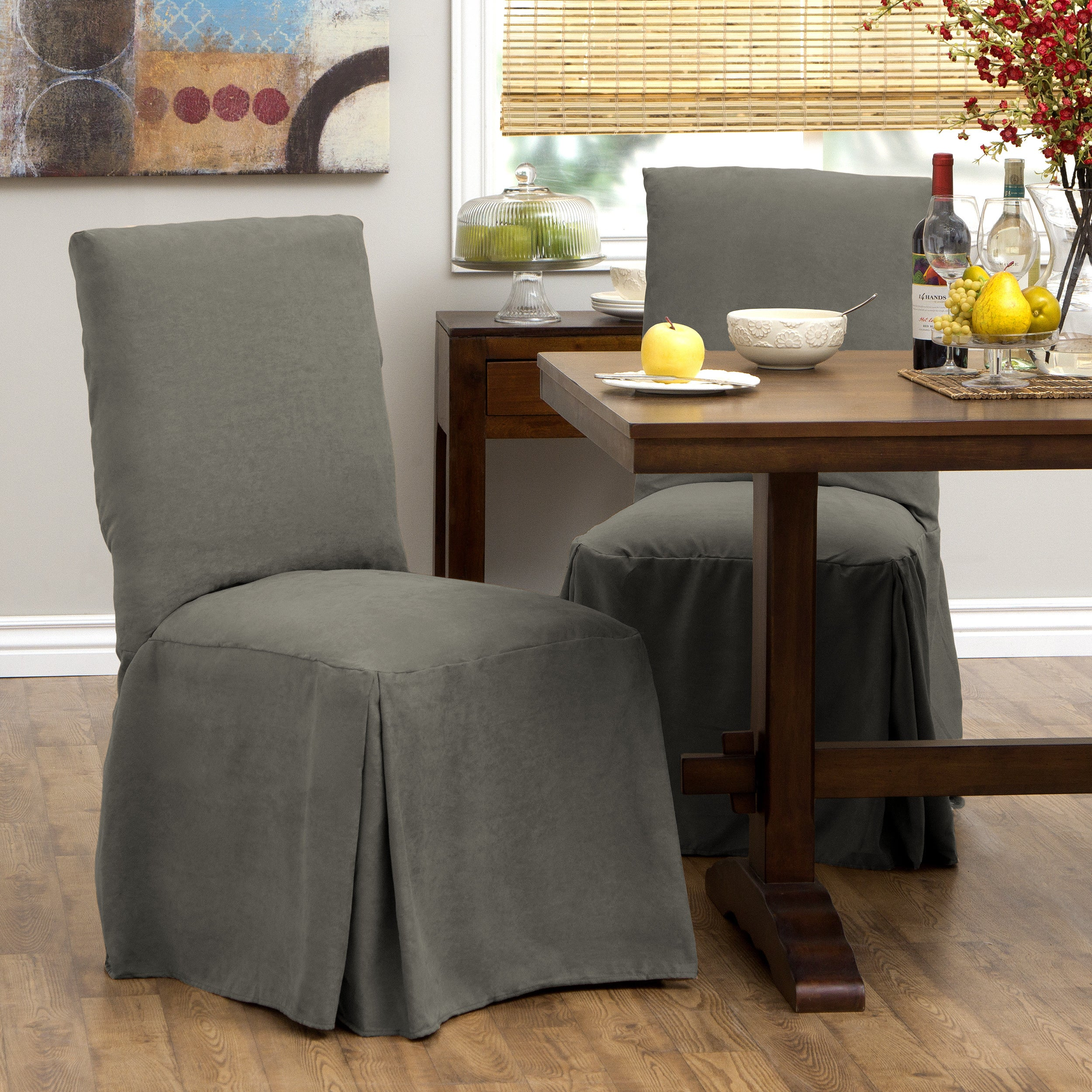 Tailor Fit Relaxed Fit Smooth Suede Tall Dining Chair Slipcover (Set Of 2)    Free Shipping Today   Overstock.com   16739134