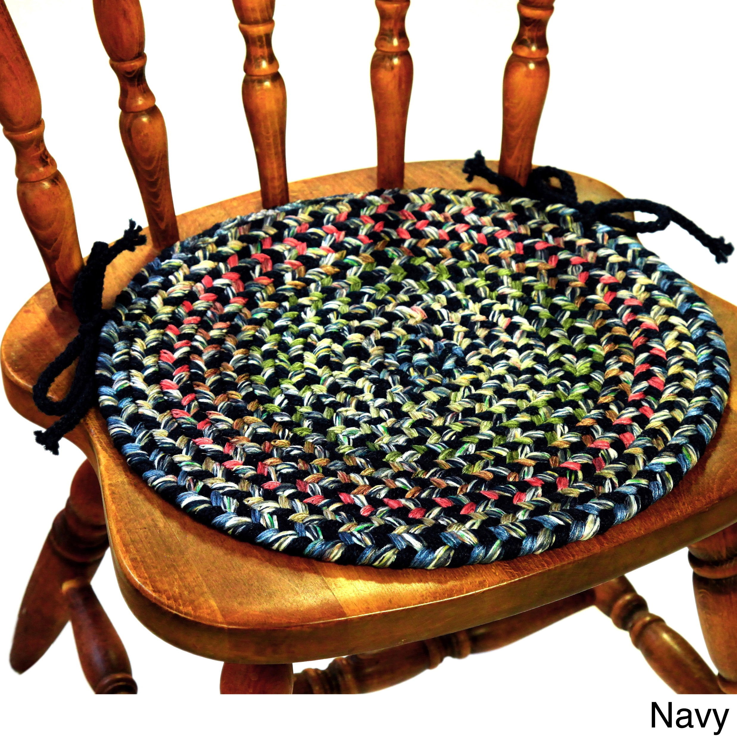 shop katie braided chair pads by rhody rug set of 4 free