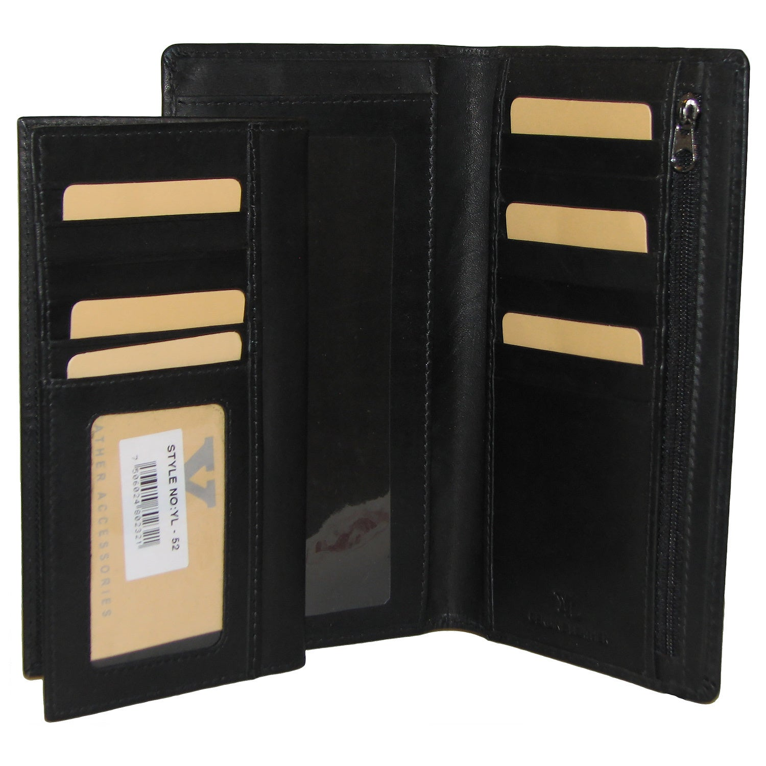 All-in-1 Genuine Leather Wallet  Card Case Holder  Removable Checkbook   Register Pocket Secretary - Large 3073906e846e