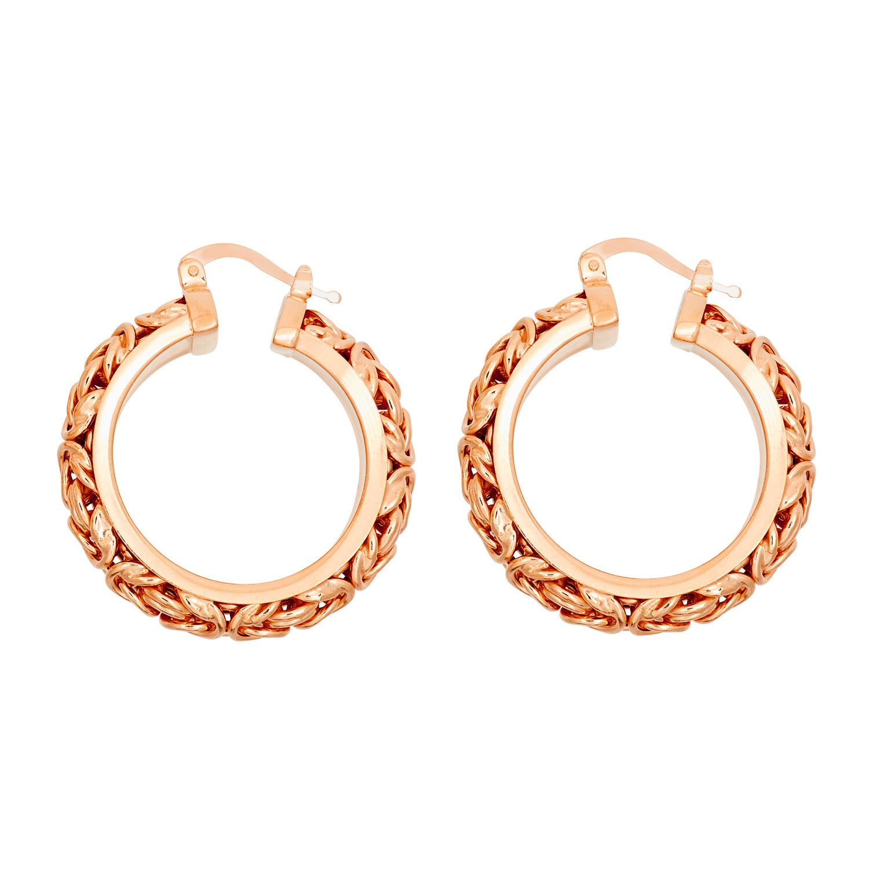 919c4ba2834b8 Gioelli Sterling Silver Byzantine Hoop Earrings