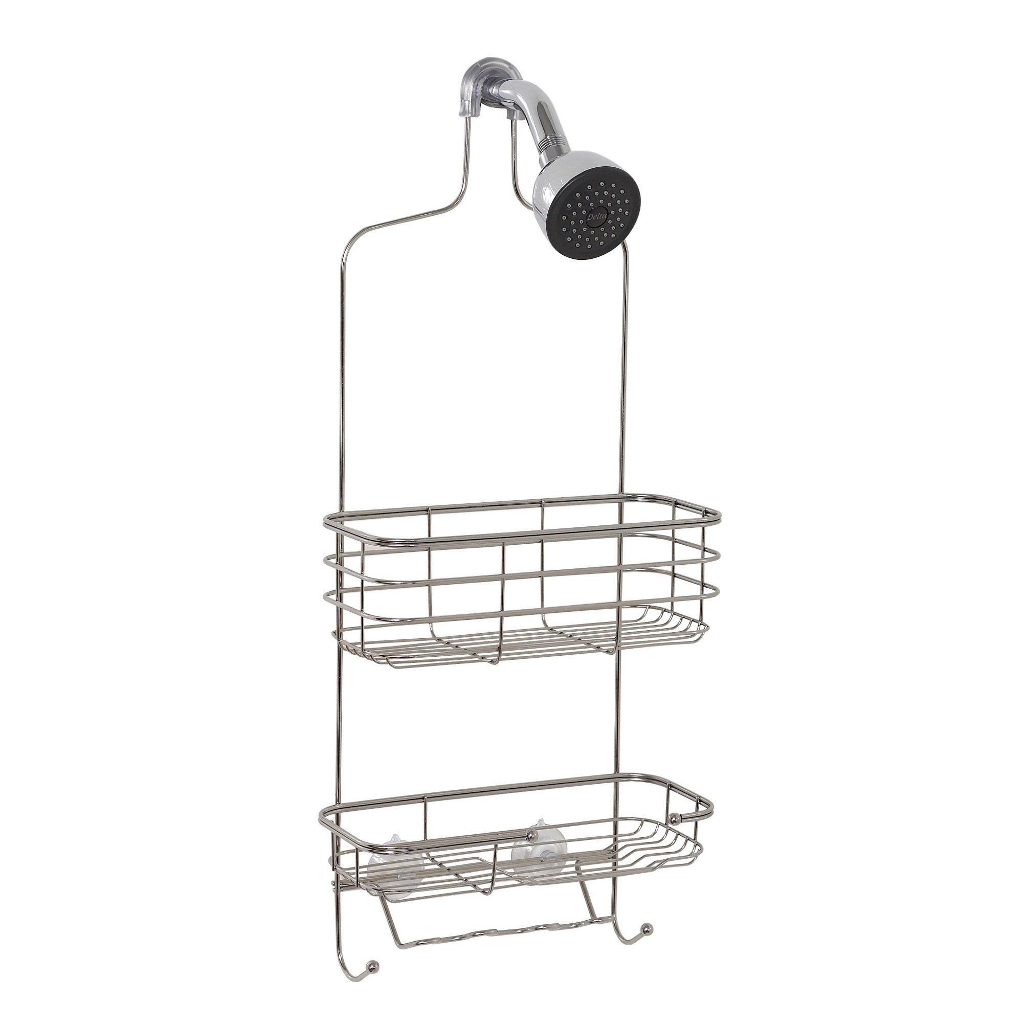 Shop Zenith Extra Large Stainless Steel Shower Head Caddy   Free Shipping  On Orders Over $45   Overstock.com   9562272