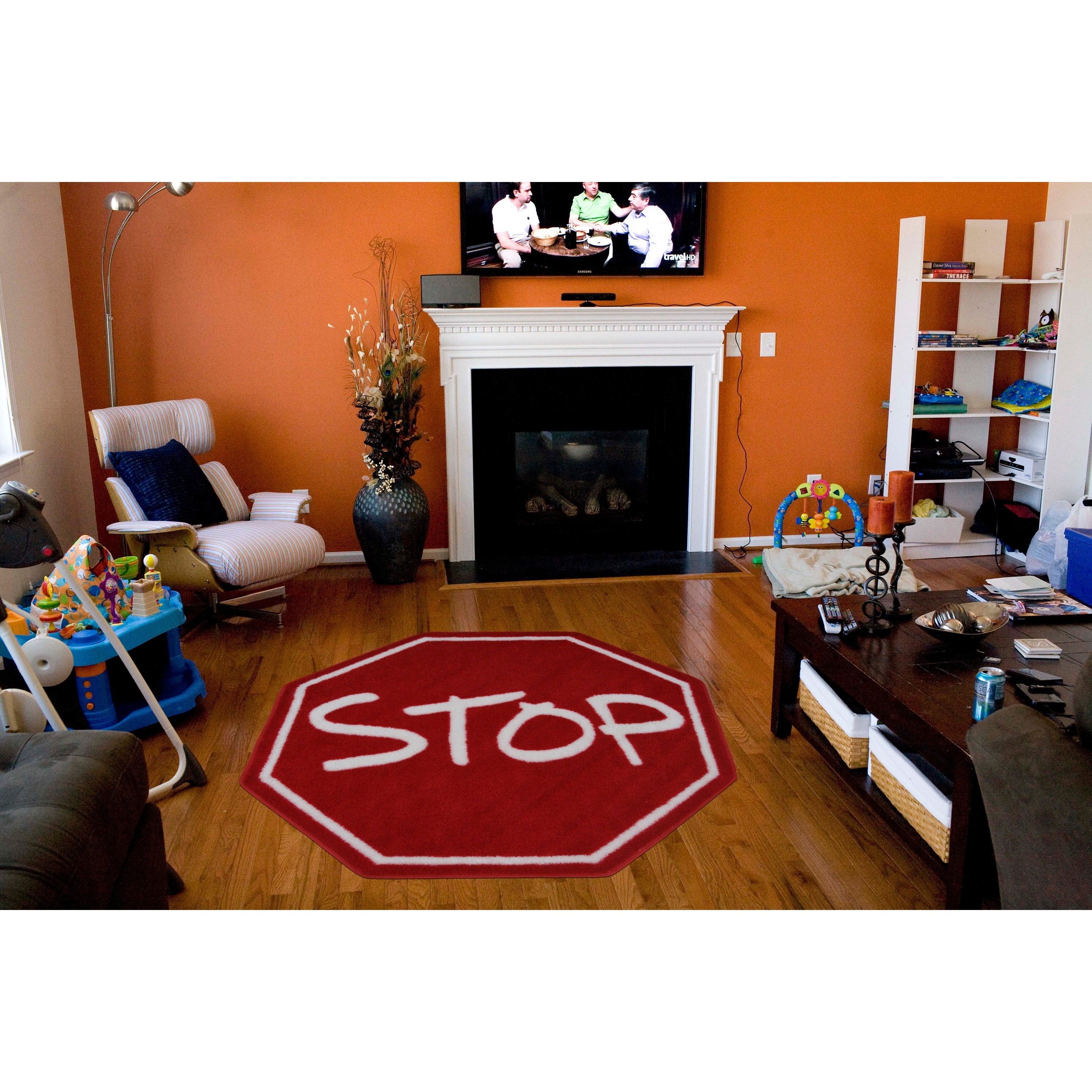 Kids Red Stop Sign Accent Rug On Ships To Canada Ca 9563178