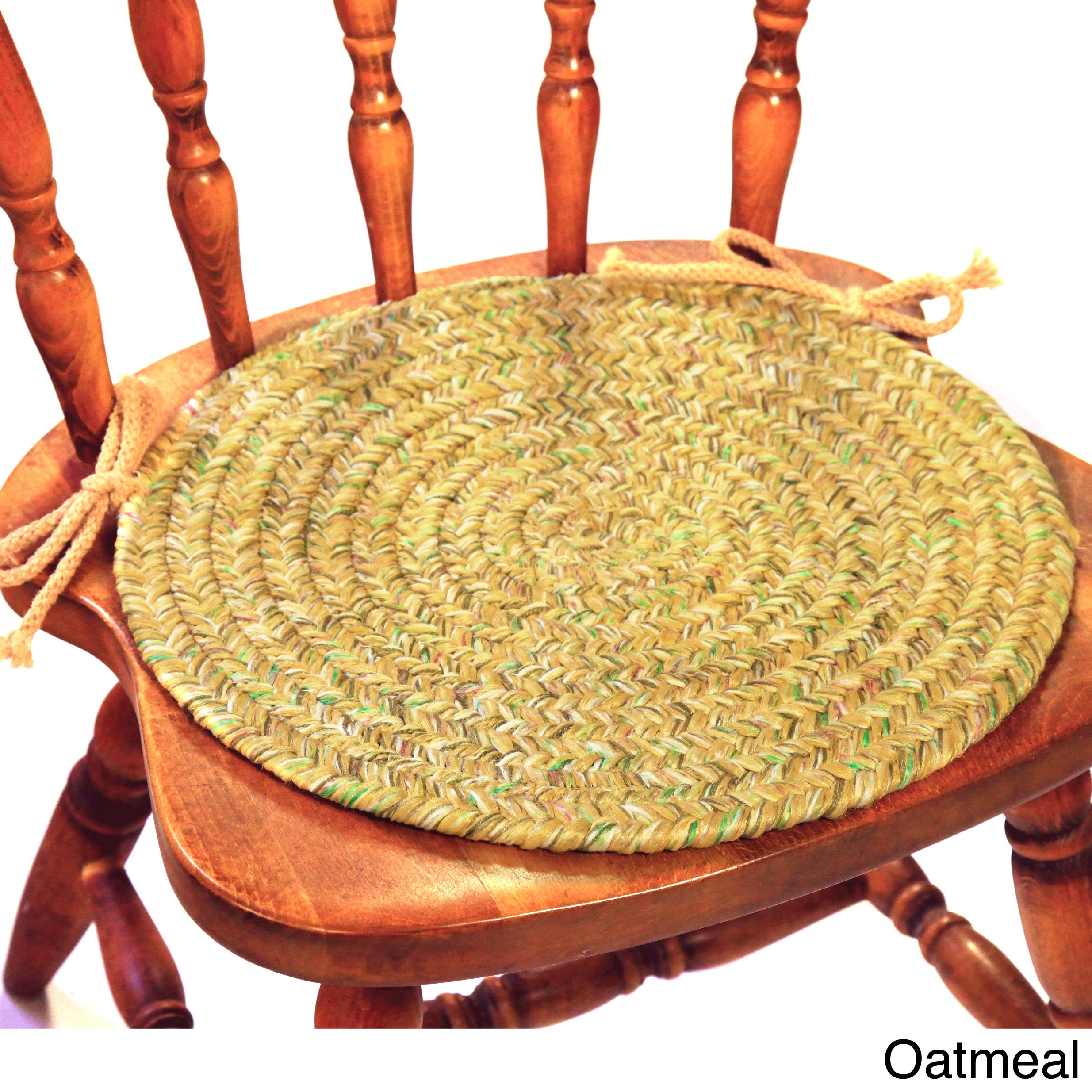 shop rhody rug sandi synthetic reversible braided chair pads set of