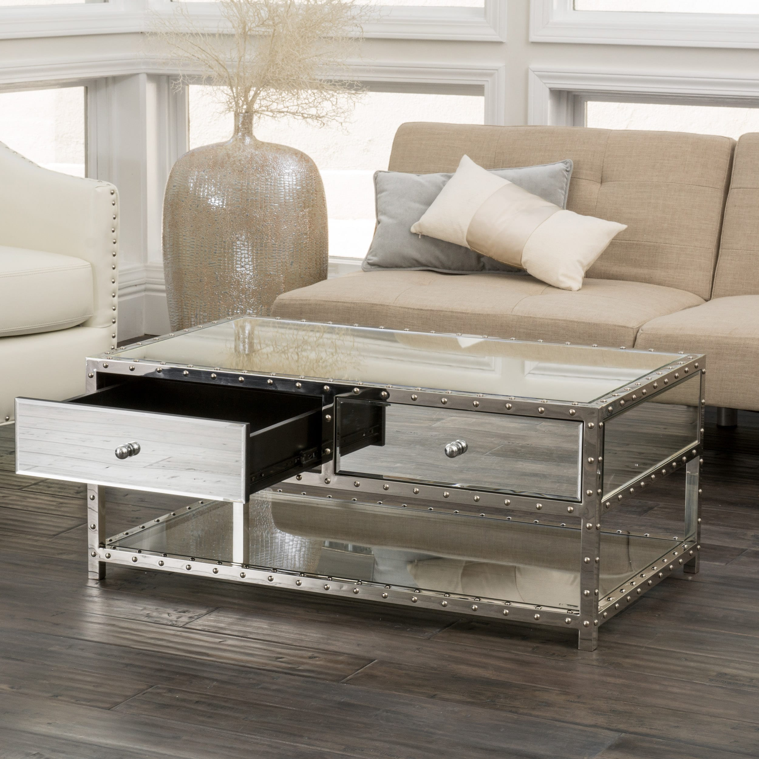 Jade Mirrored Coffee Table by Christopher Knight Home Free