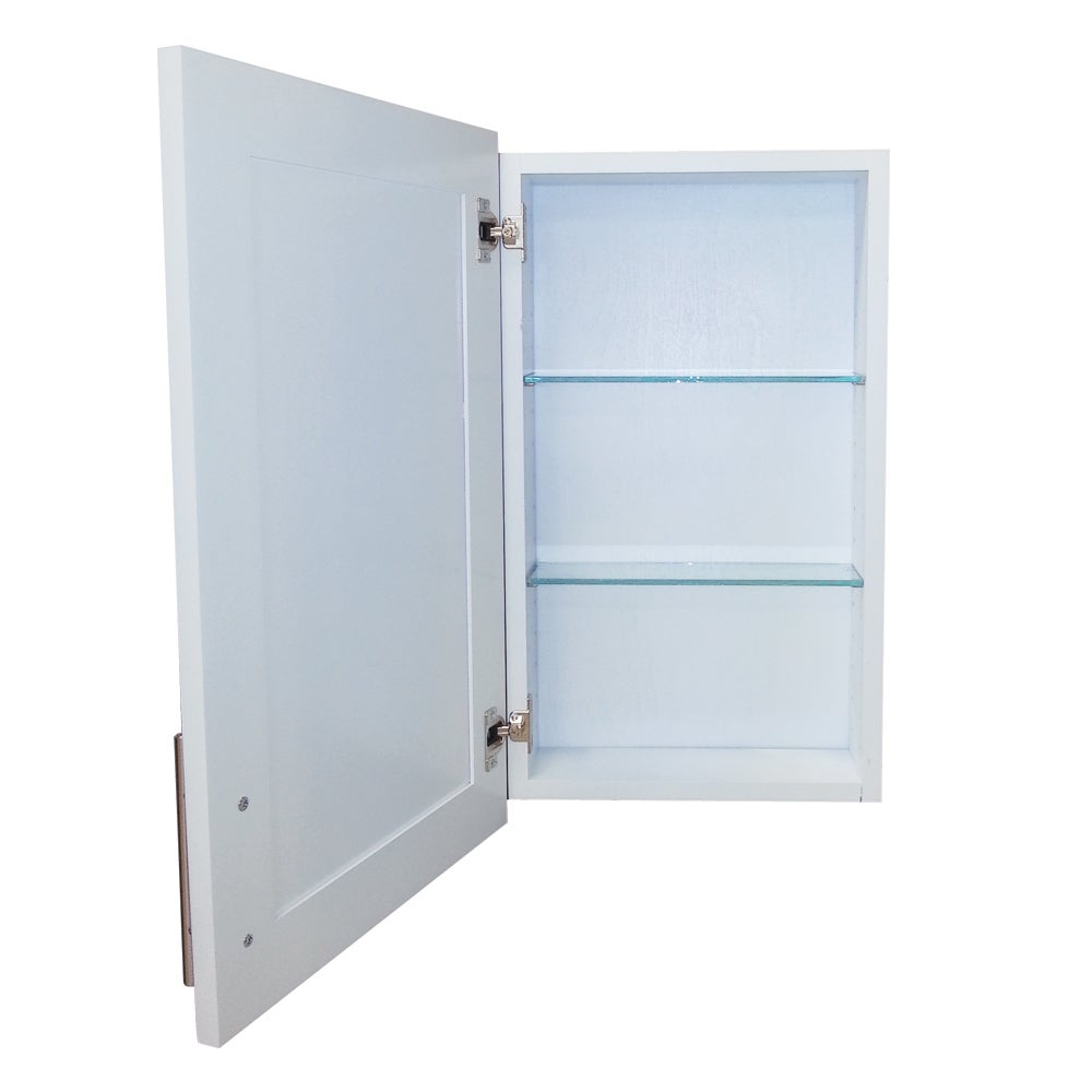 Shop 18-inch Recessed Standard Depth Classic Frameless Cabinet - 3.5 ...