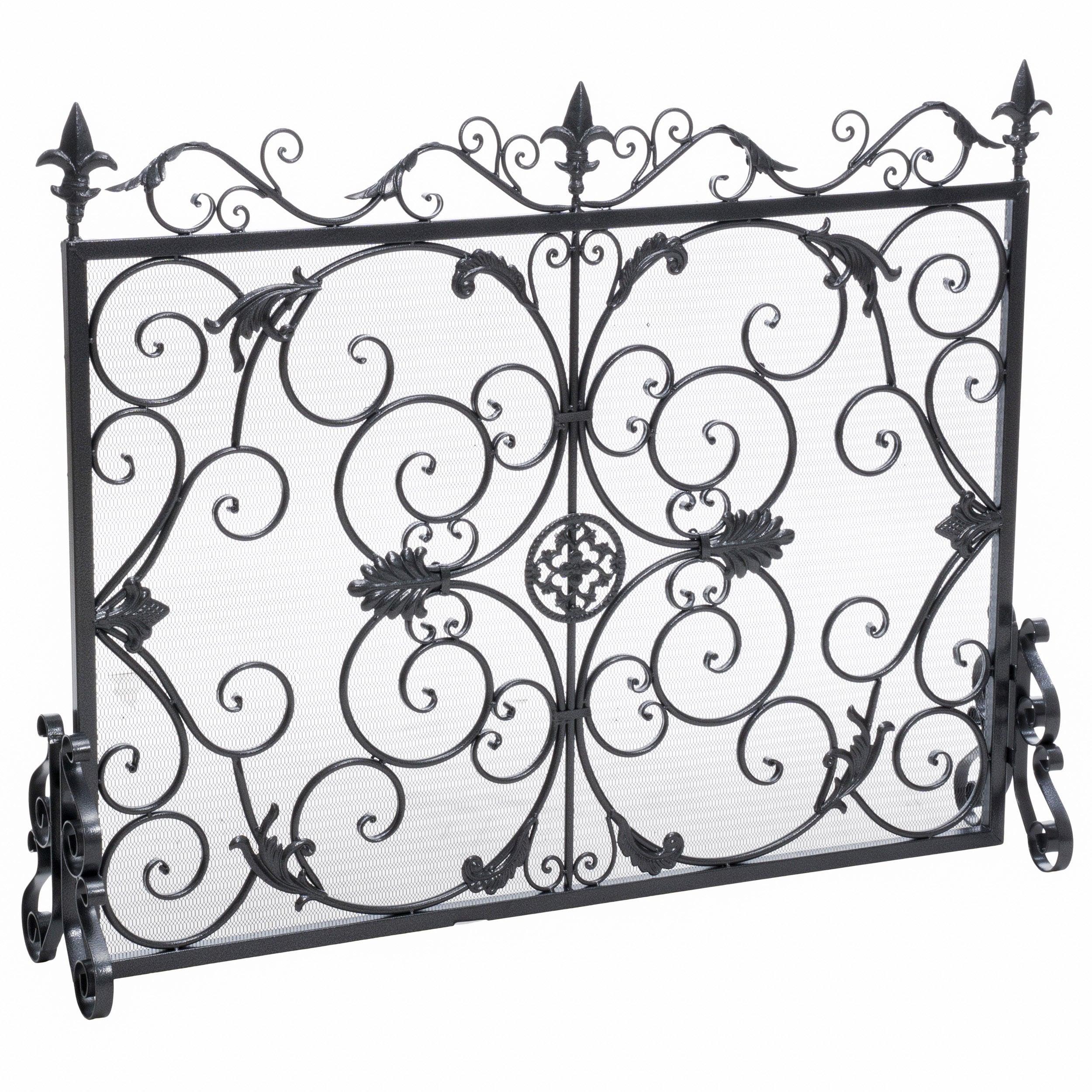 screen walmart ip hearth black pleasant com guard fireplace