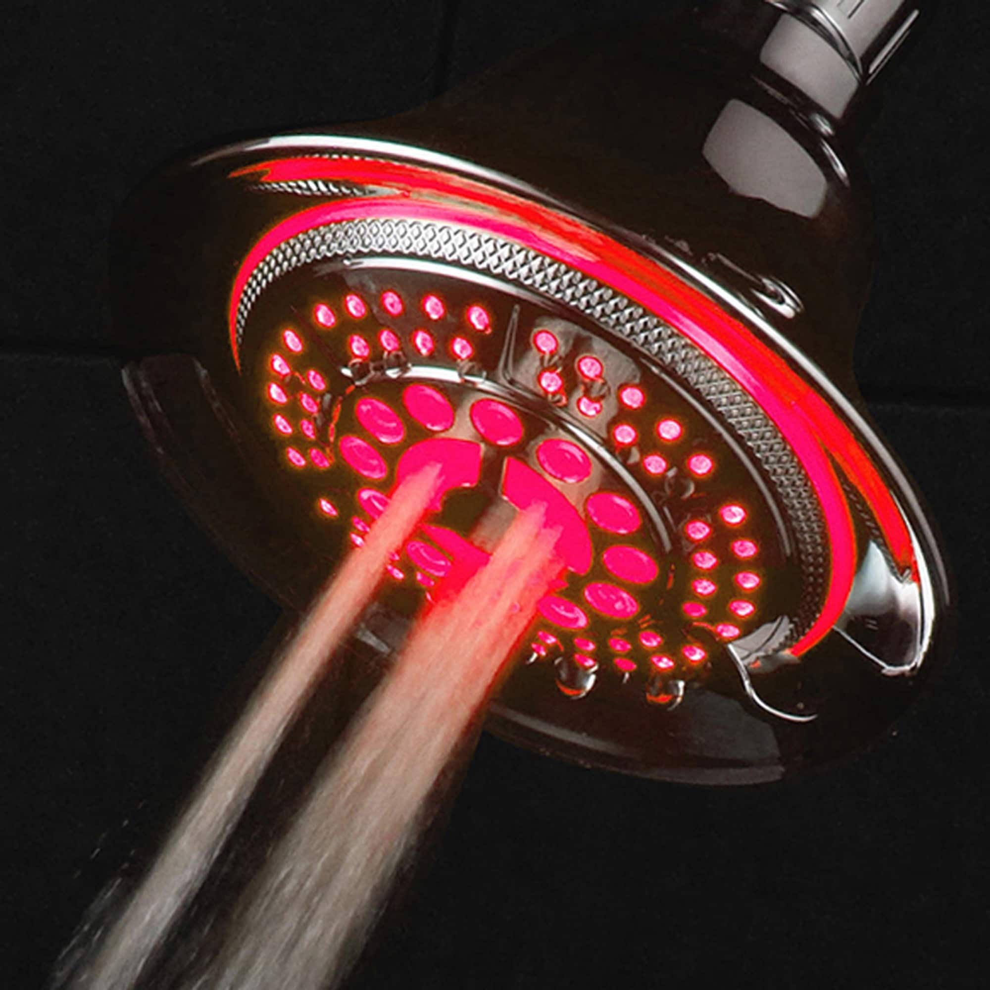 Shop DreamSpa Chrome Color-changing LED Shower Head - Free Shipping ...