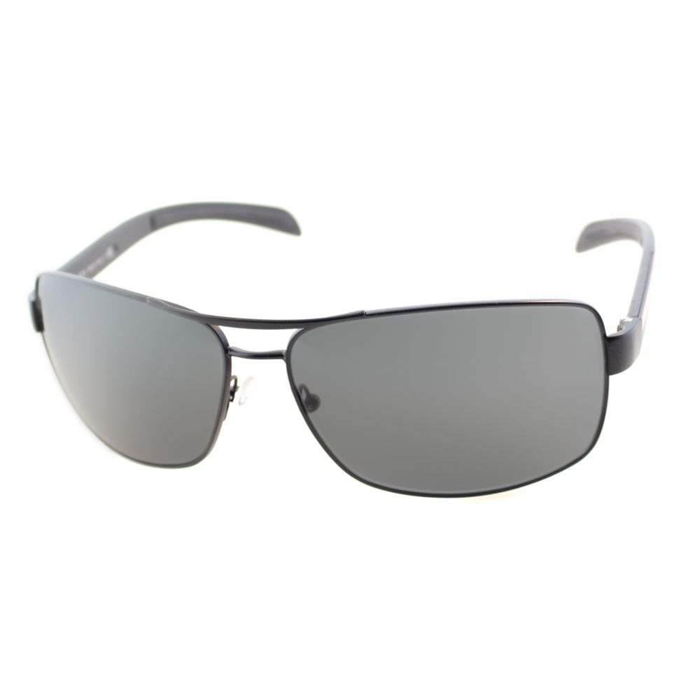 d59c25021ece Shop Prada Linea Rosa Men s  PS 54IS 1BO1A1  Aviator Sunglasses - Free  Shipping Today - Overstock - 9573146