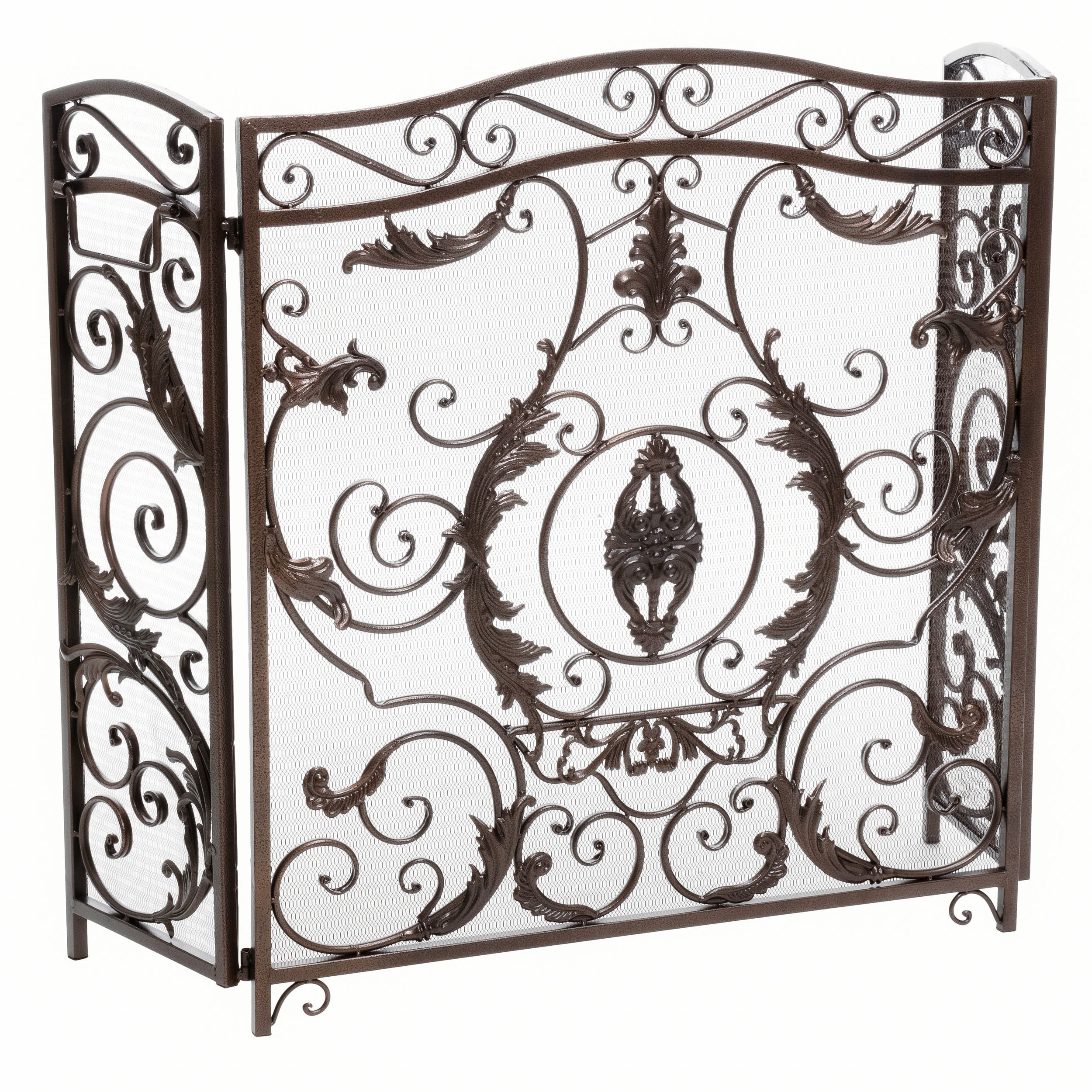 product french bronze cast antique chairish fireplace style screen rococo birds bird nest s
