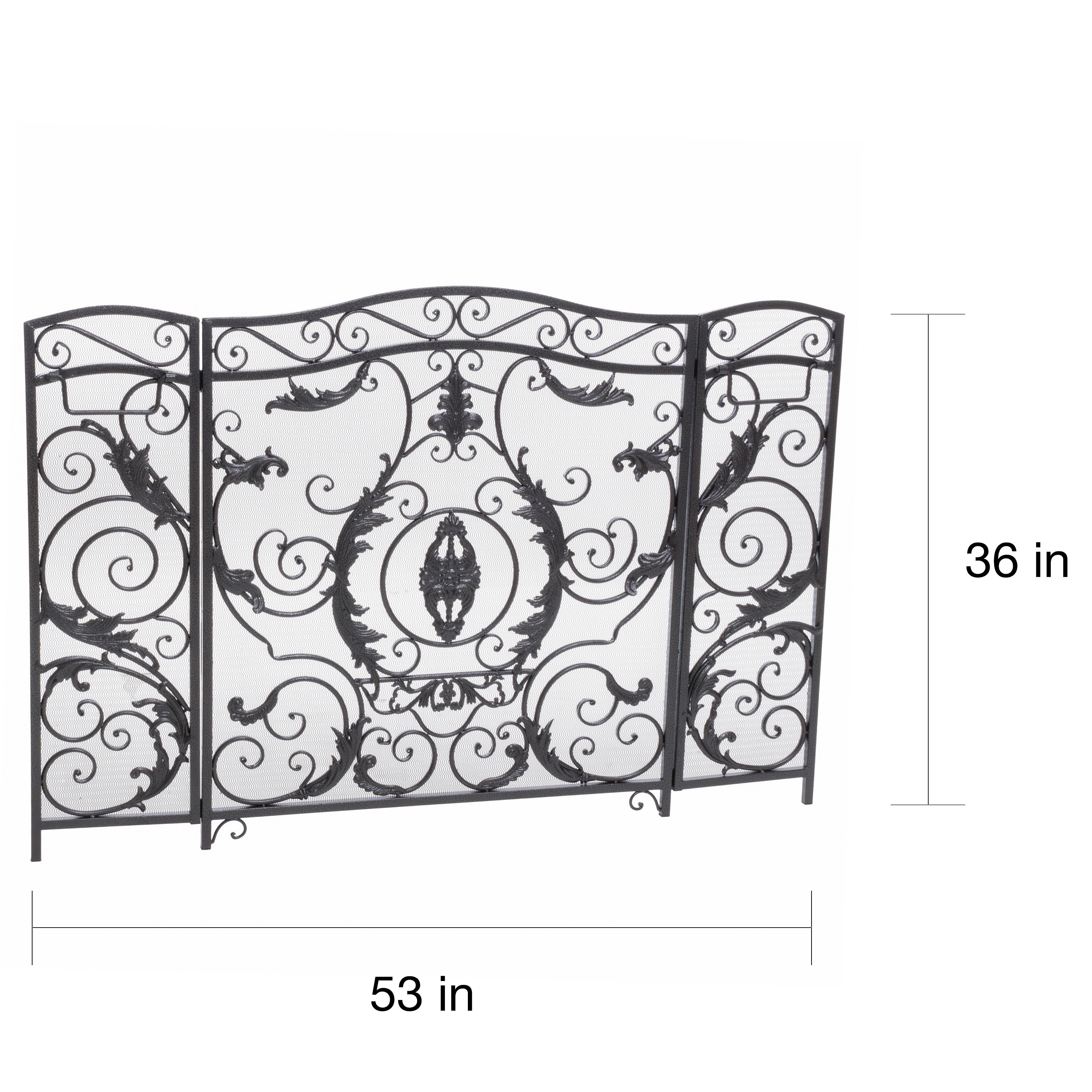 improvement hearth arched fireplace wayfair home pleasant pdx screen panel white reviews