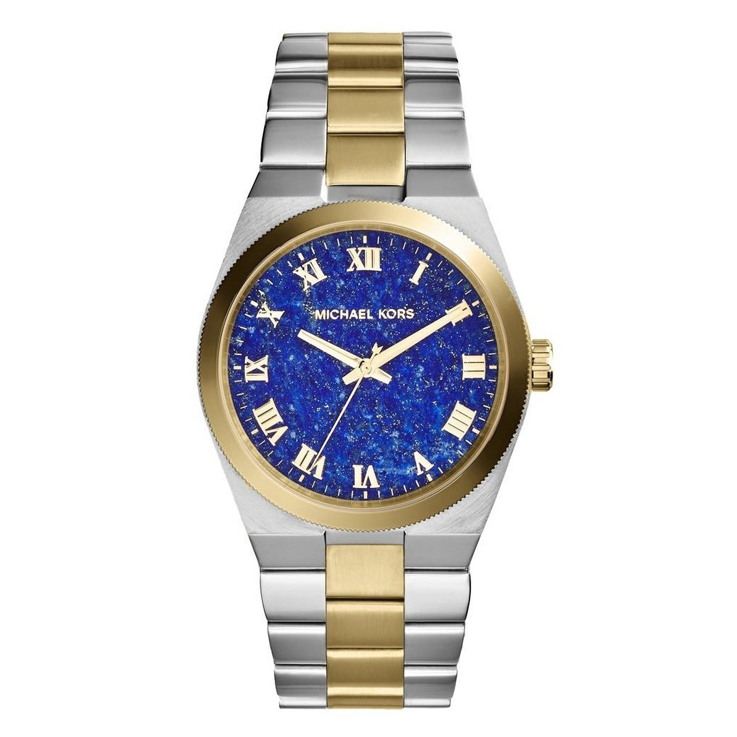 9e9815256735 Shop Michael Kors Women s MK5893  Channing  Two-tone Blue Dial Watch - Free  Shipping Today - Overstock - 9573670